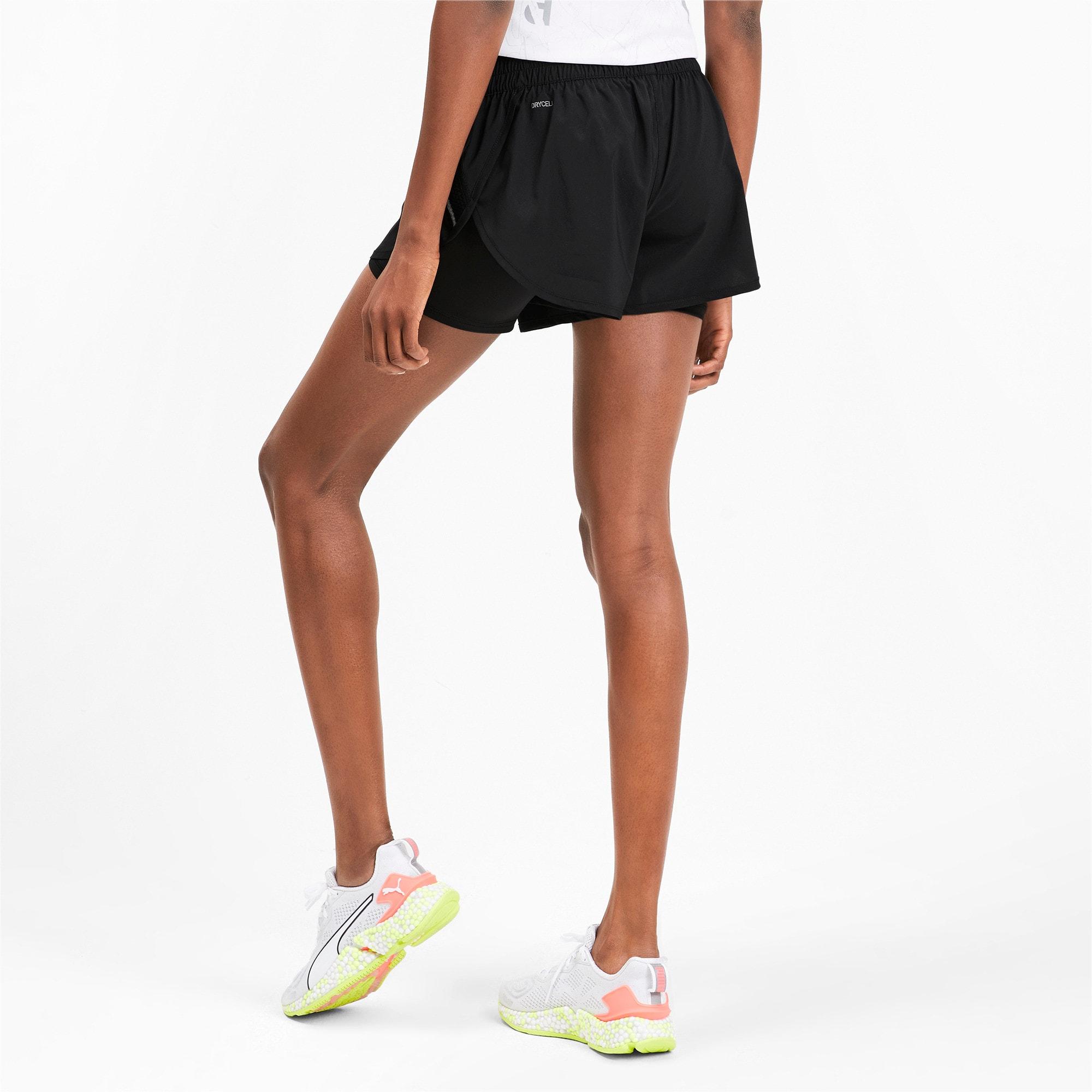 Thumbnail 2 of ADHM 2019 Last Lap Woven 2 in 1 Women's Running Shorts, Puma Black-Puma Black, medium-IND