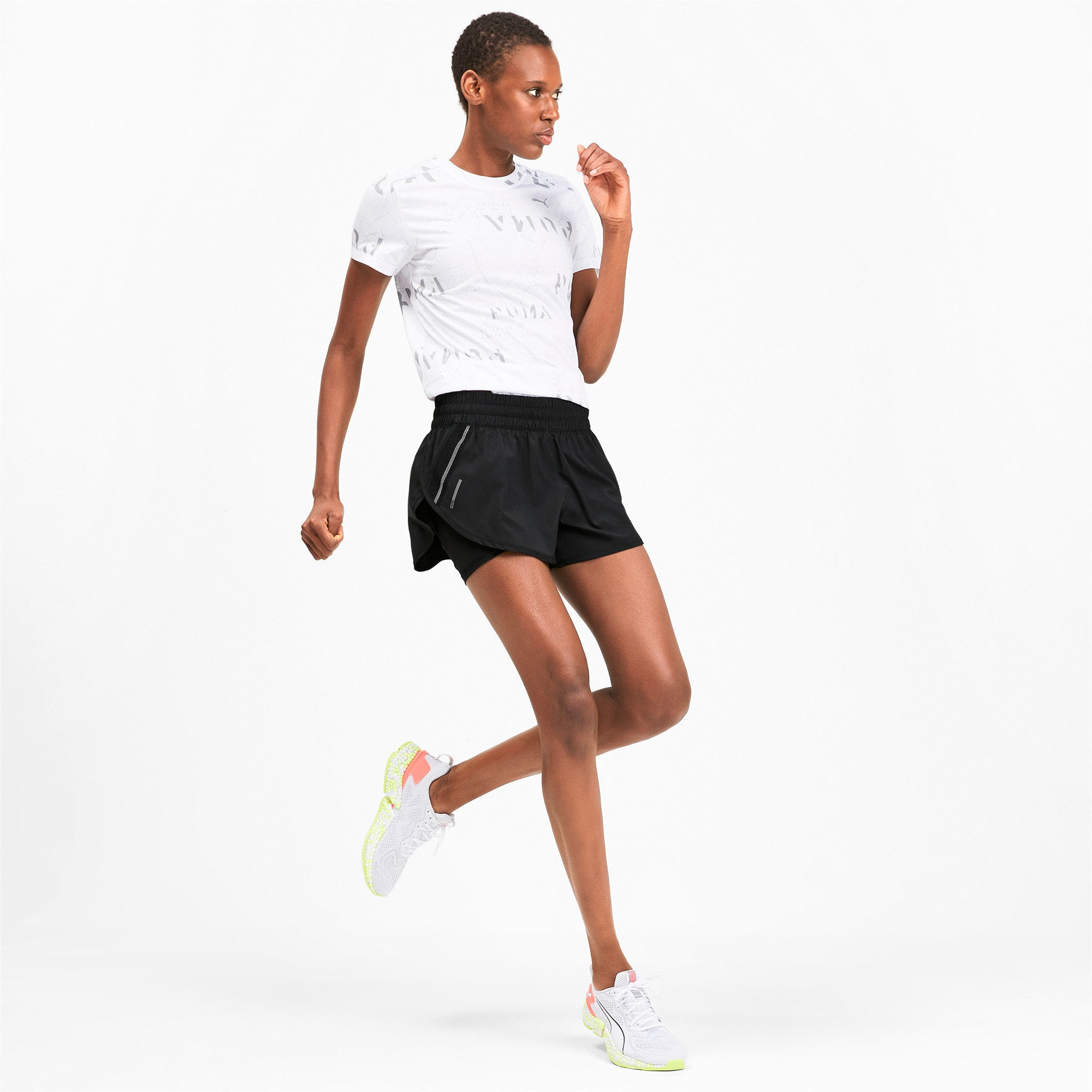 Thumbnail 3 of ADHM 2019 Last Lap Woven 2 in 1 Women's Running Shorts, Puma Black-Puma Black, medium-IND