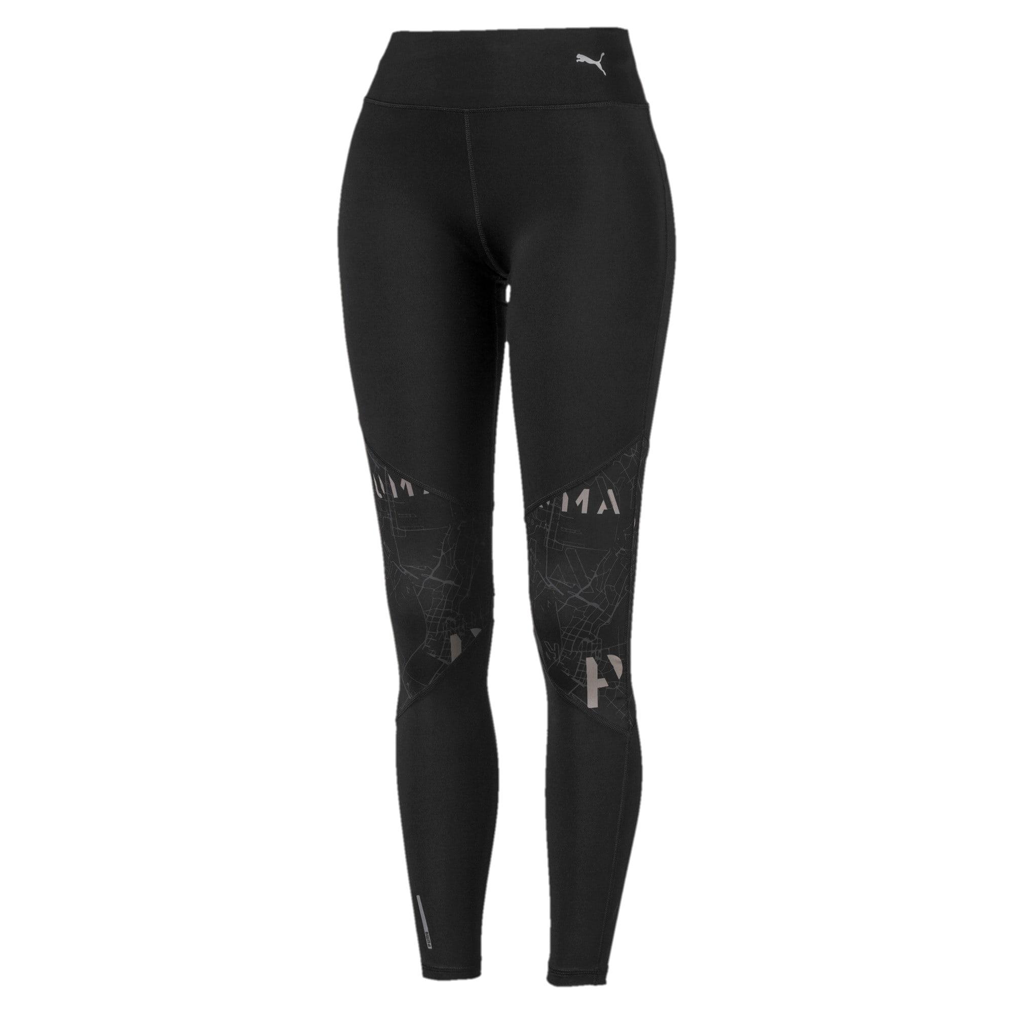 Miniatura 4 de Leggings estampados para mujer, Puma Black-Puma Black, mediano