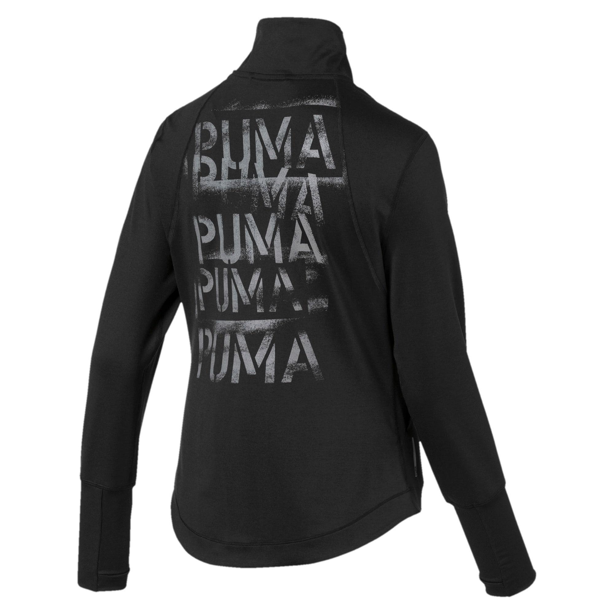 Thumbnail 5 of Studio Knit Women's Training Jacket, Puma Black, medium-IND
