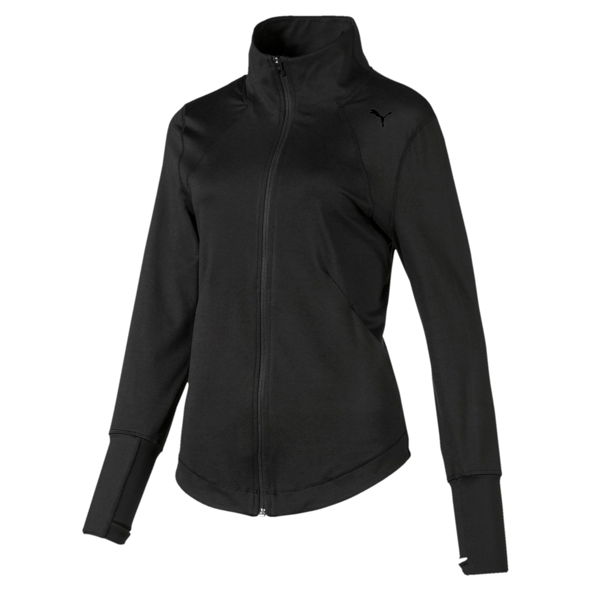 Thumbnail 4 of Studio Knit Women's Training Jacket, Puma Black, medium-IND