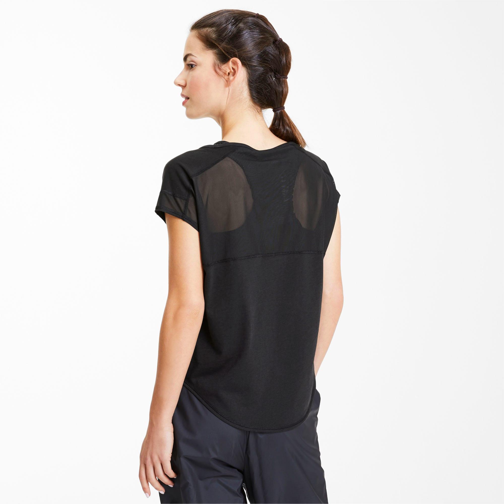 Studio Mesh Cat Damen Training T Shirt | Puma Black | PUMA