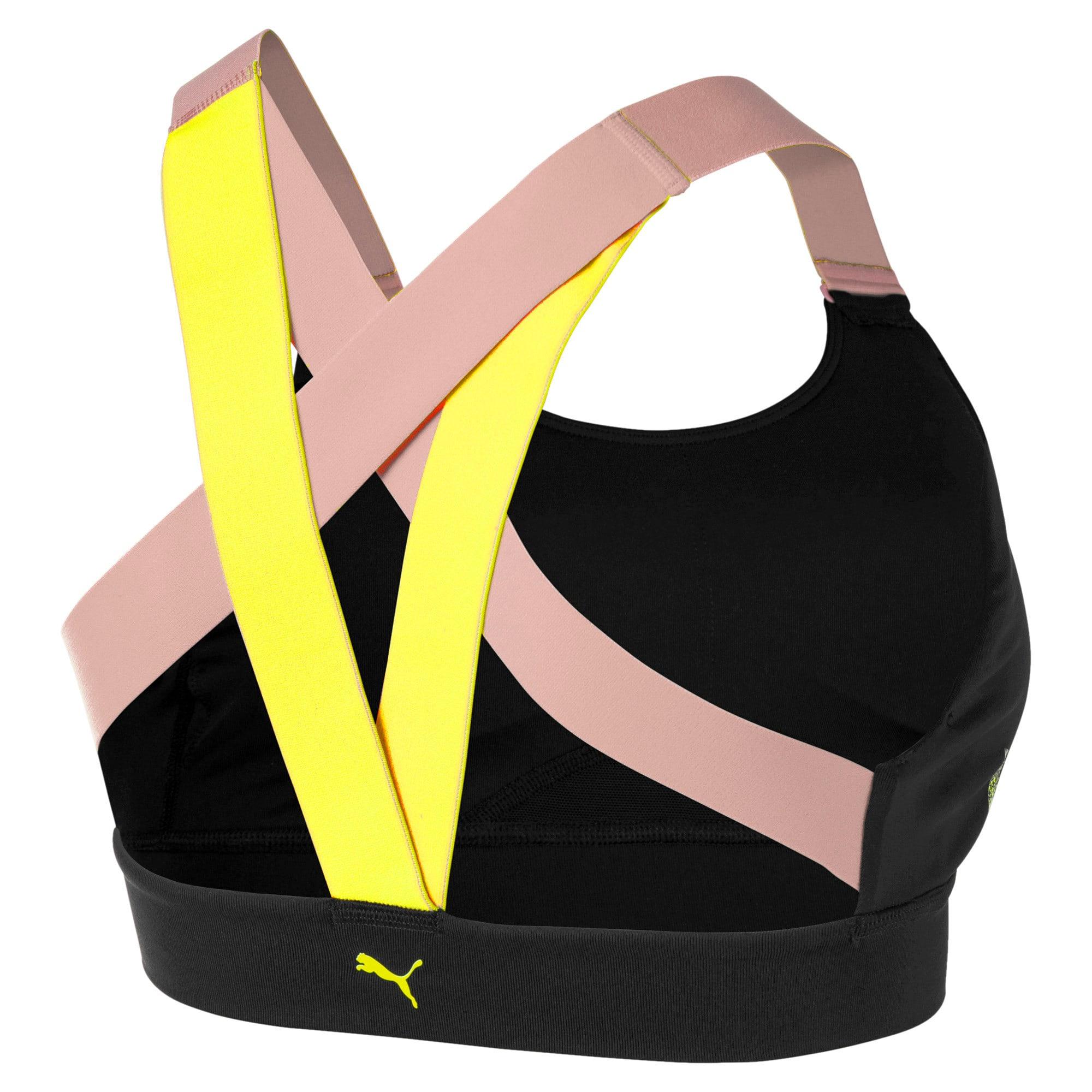 Thumbnail 5 of Feel It Women's Training Bra, Black-BridalRose-Yellowalert, medium