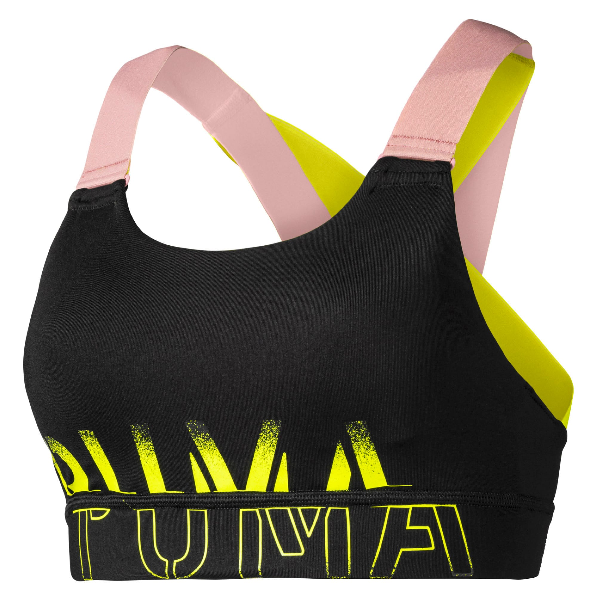 Thumbnail 4 of Feel It Women's Training Bra, Black-BridalRose-Yellowalert, medium