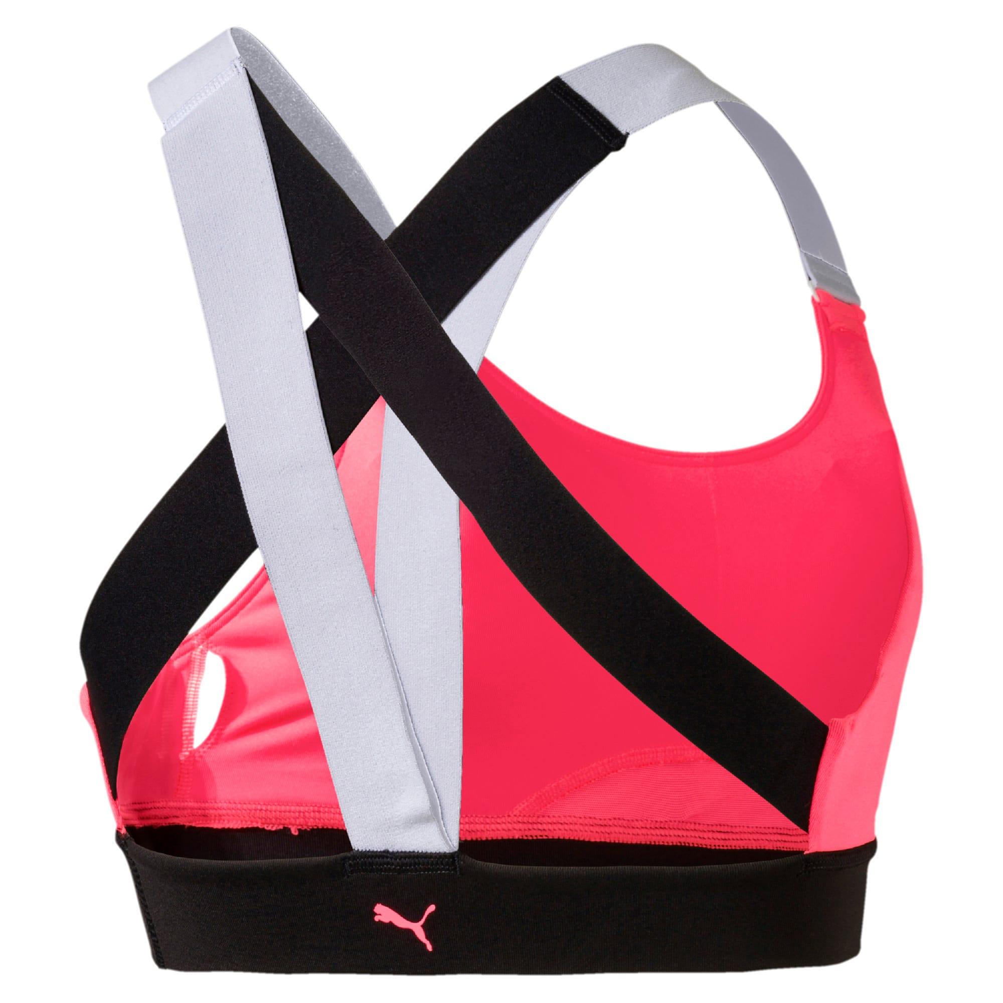 Thumbnail 5 of Feel It Women's Training Bra, Pink Alert-Puma Black-White, medium-IND