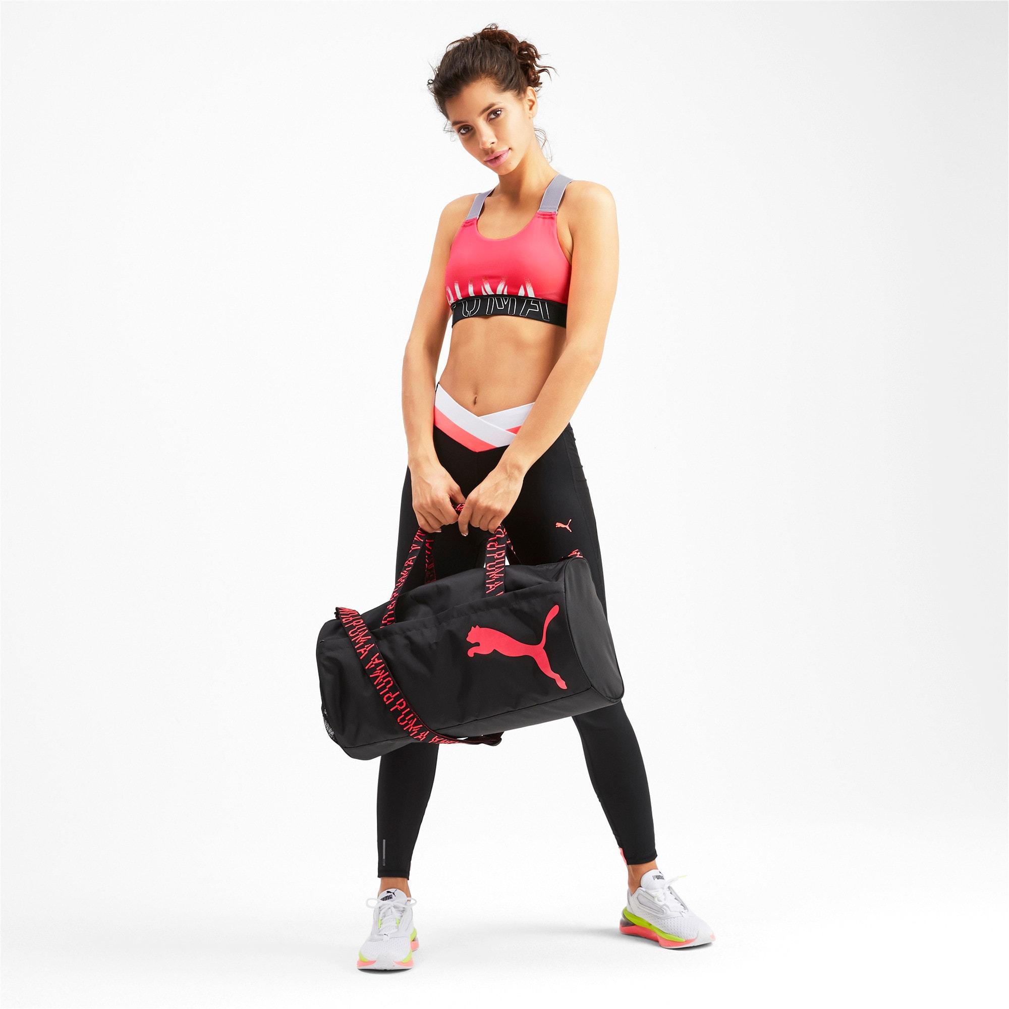 Thumbnail 3 of Feel It Women's Training Bra, Pink Alert-Puma Black-White, medium-IND