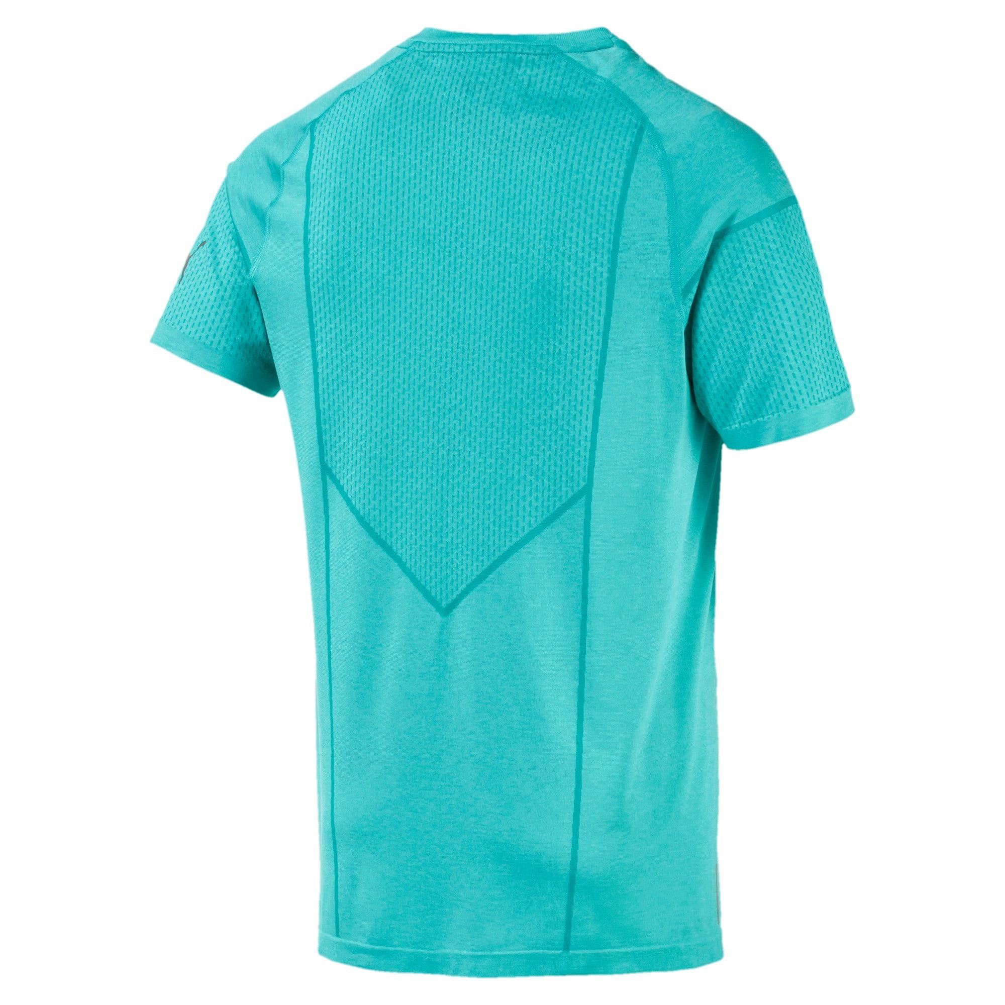 Miniatura 5 de Camiseta Reactive evoKNIT para hombre, Blue Turquoise Heather, mediano