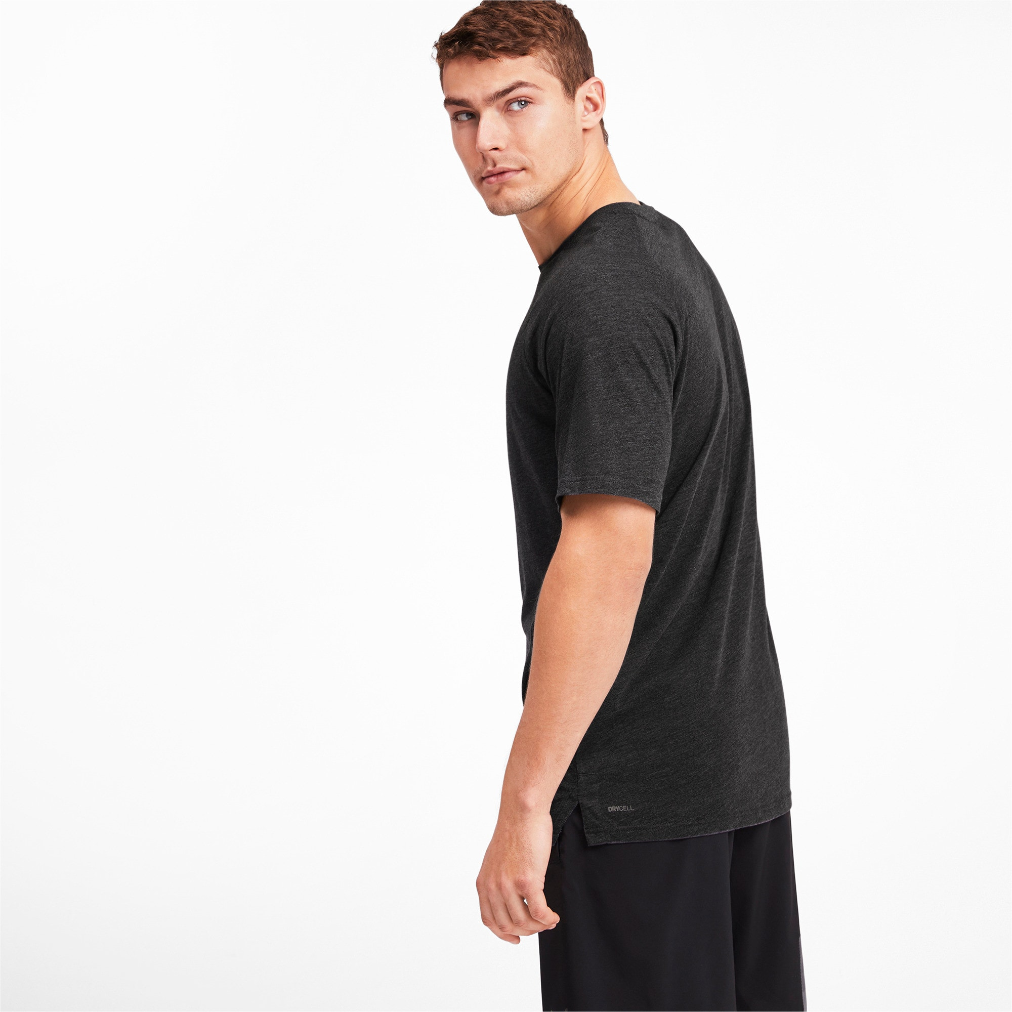 Thumbnail 2 of Meska koszulka Reactive treningowa z krótkim rekawem, Puma Black Heather, medium