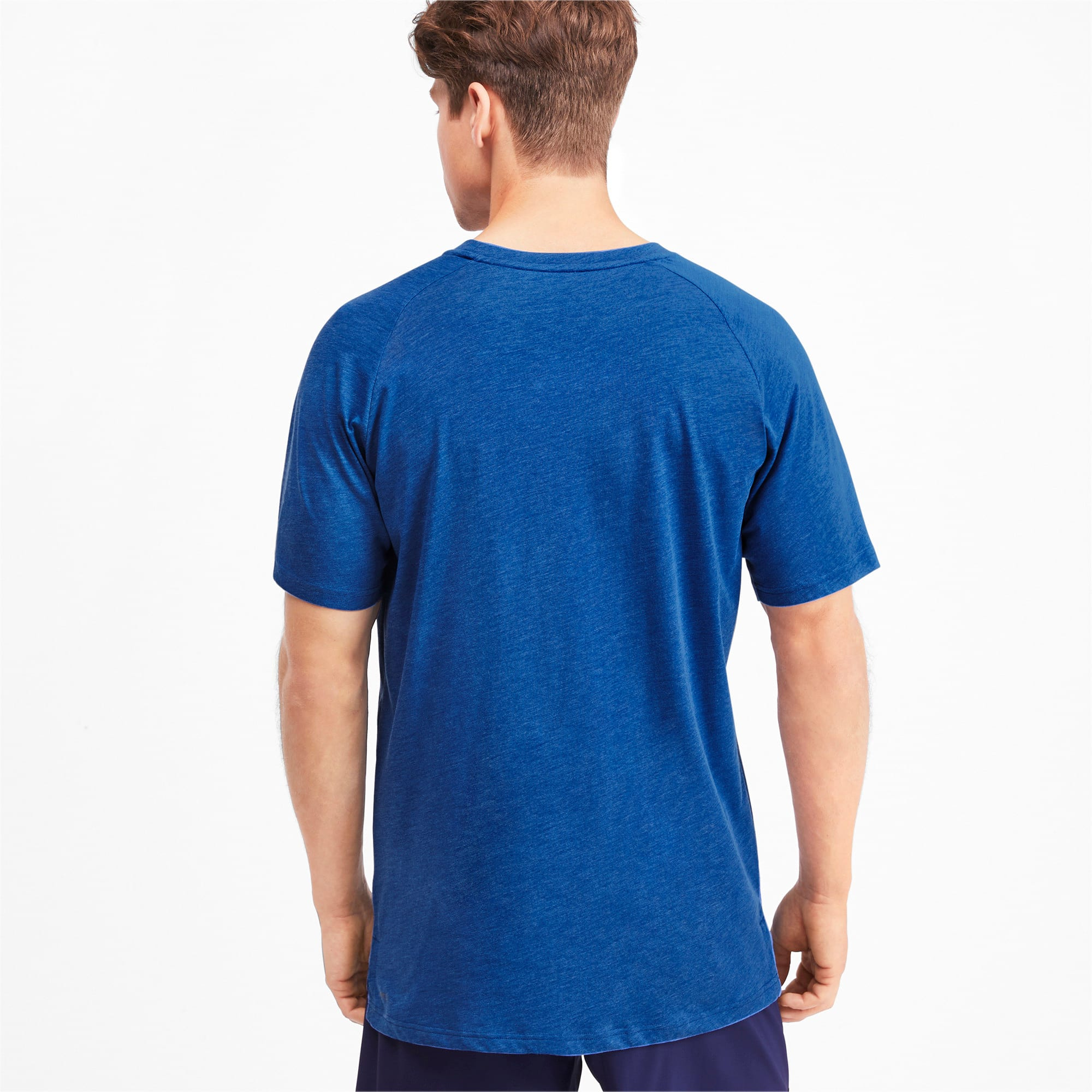 Thumbnail 2 of Reactive Short Sleeve Men's Training Tee, Galaxy Blue Heather, medium