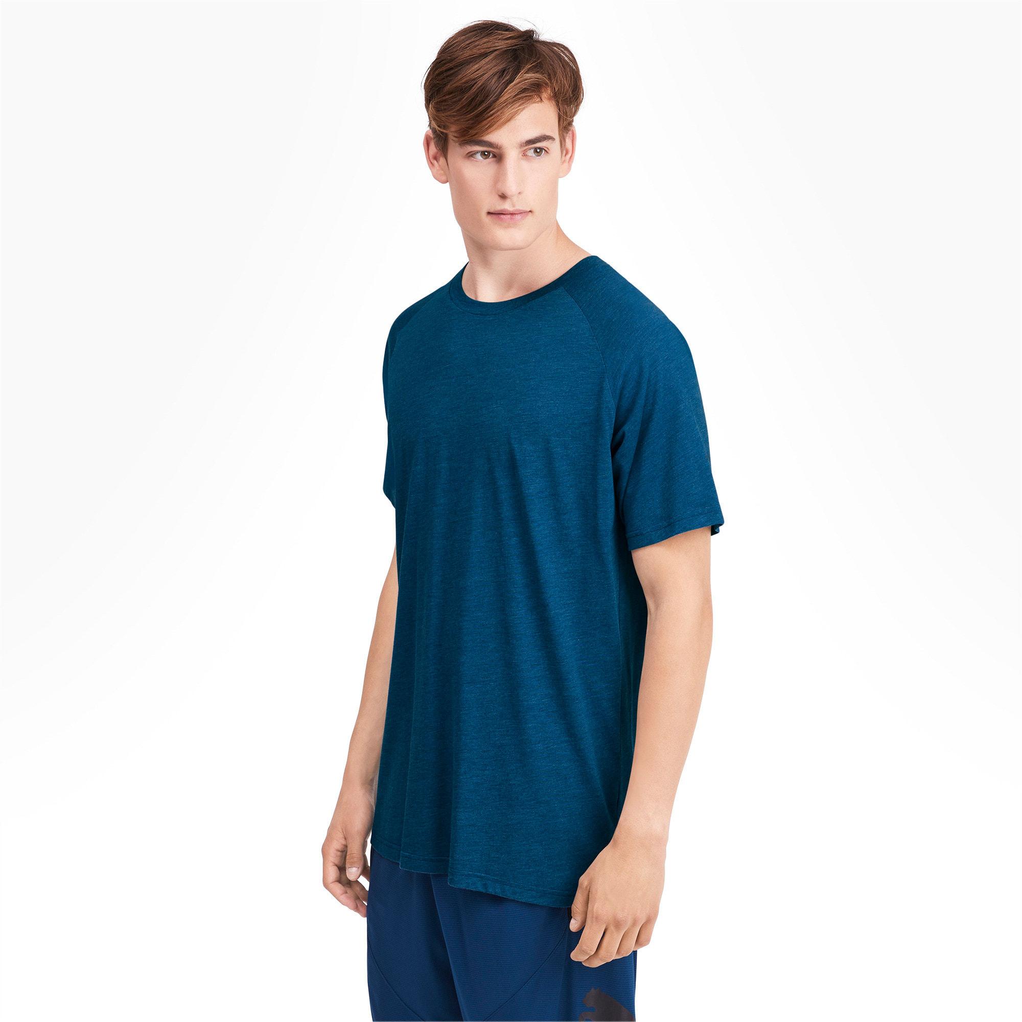 Miniaturka 1 Męska koszulka Reactive treningowa z krótkim rękawem, Kolor Gibraltar Sea Heather, średnie