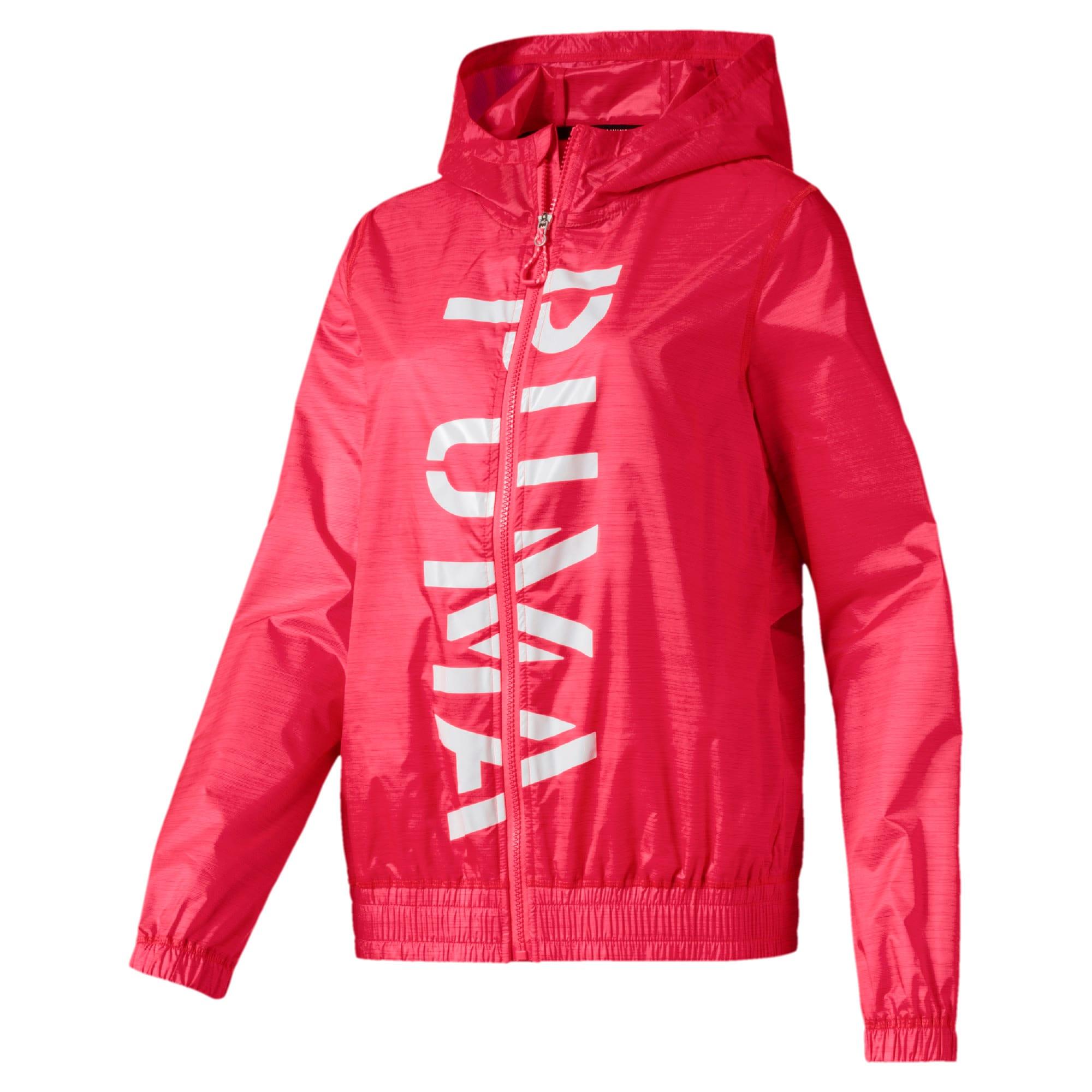 Miniatura 4 de Chaqueta tejida con estampa Be Bold para mujer, Pink Alert, mediano