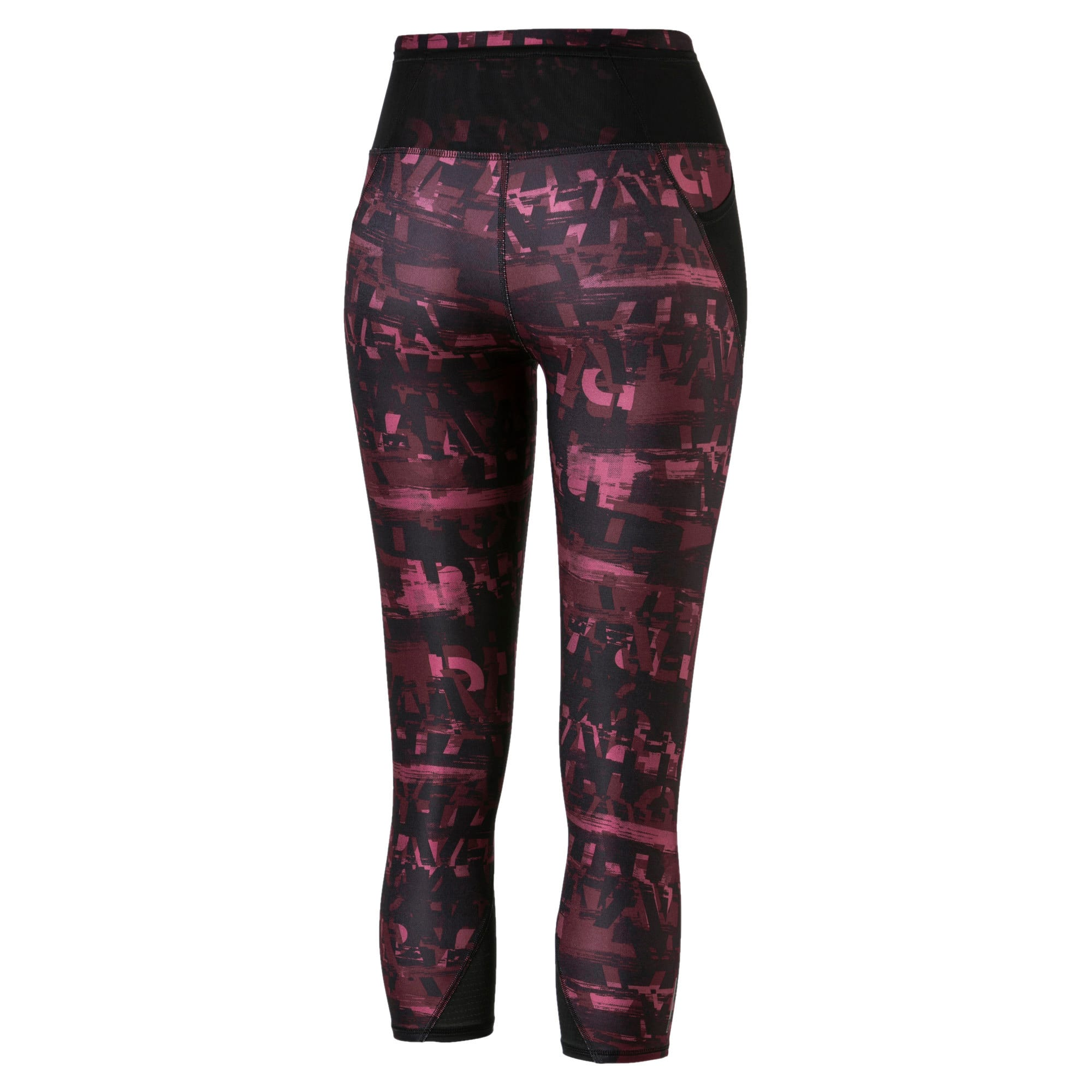 Thumbnail 5 of Be Bold All-Over Print 3/4 Women's Training Tights, Vineyard Wine, medium-IND