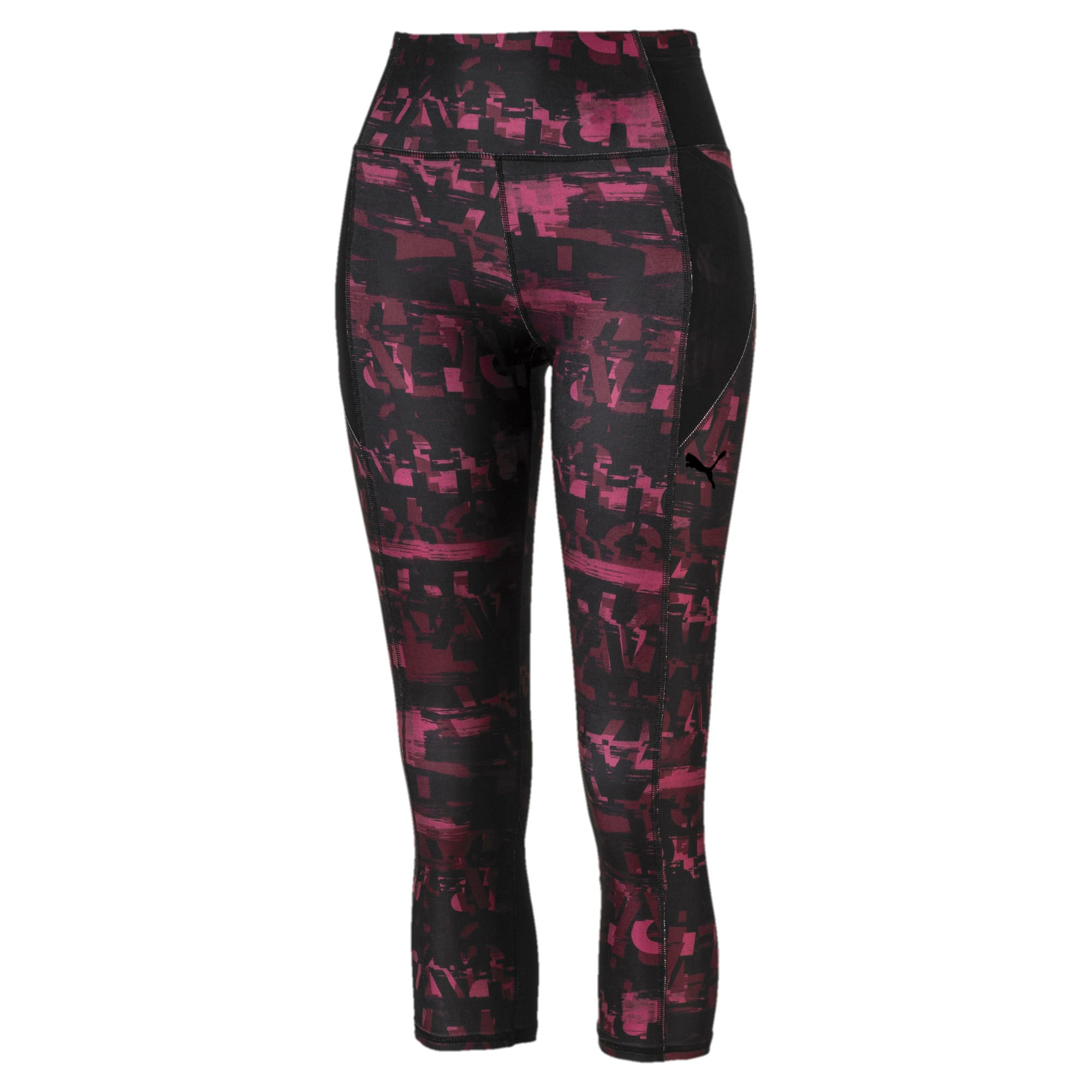 Thumbnail 4 of Be Bold All-Over Print 3/4 Women's Training Tights, Vineyard Wine, medium-IND