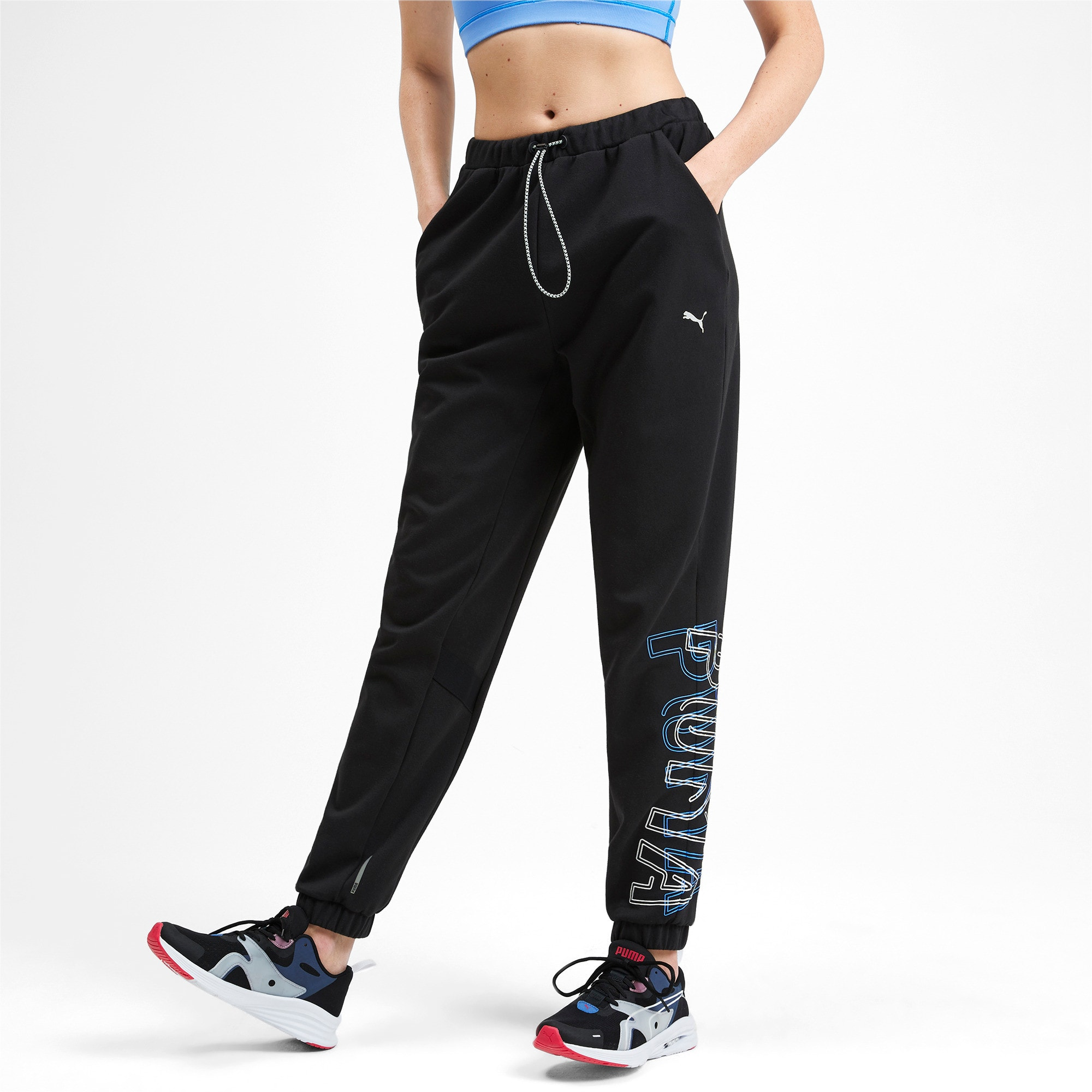 Thumbnail 1 of HIT Feel It Knitted Women's Training Sweatpants, Puma Black, medium