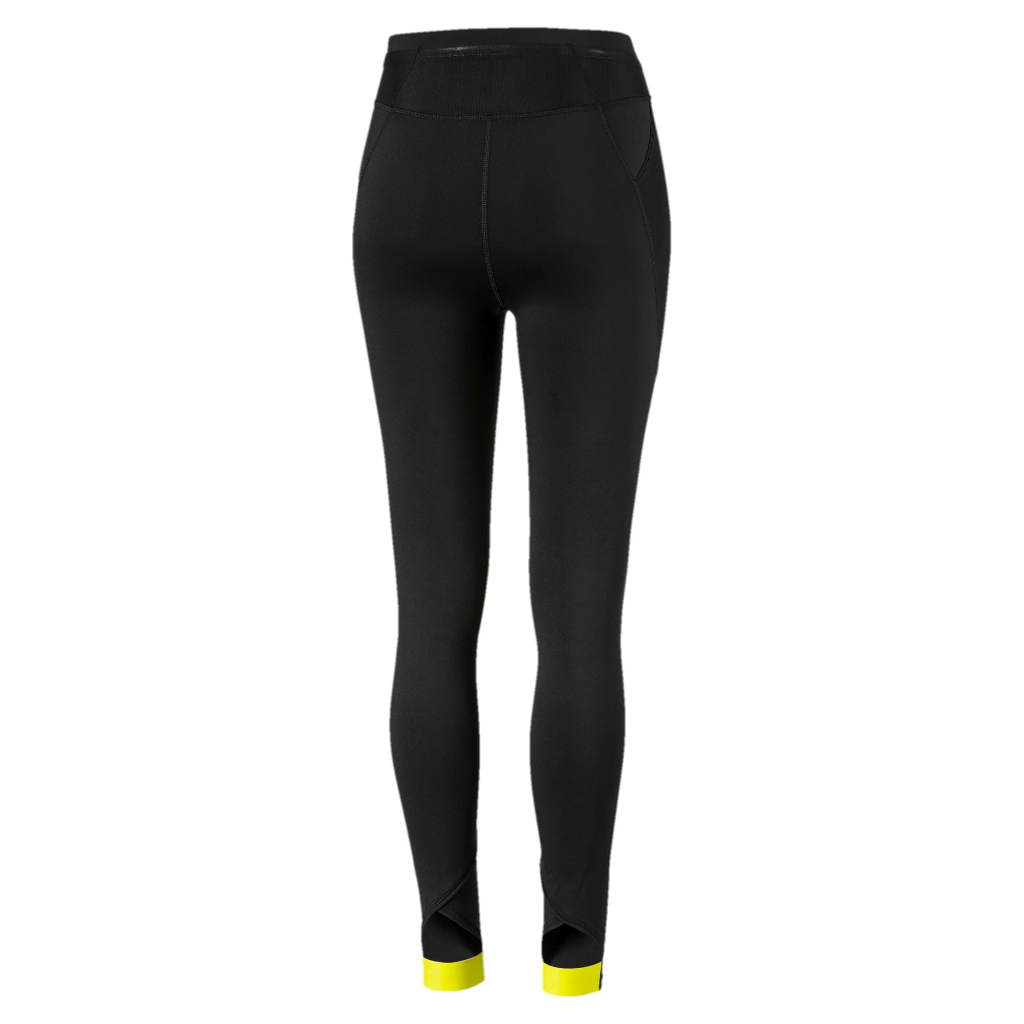 Thumbnail 5 of Feel It 7/8-trainingslegging voor dames, Black-BridalRose-YellowAlert, medium