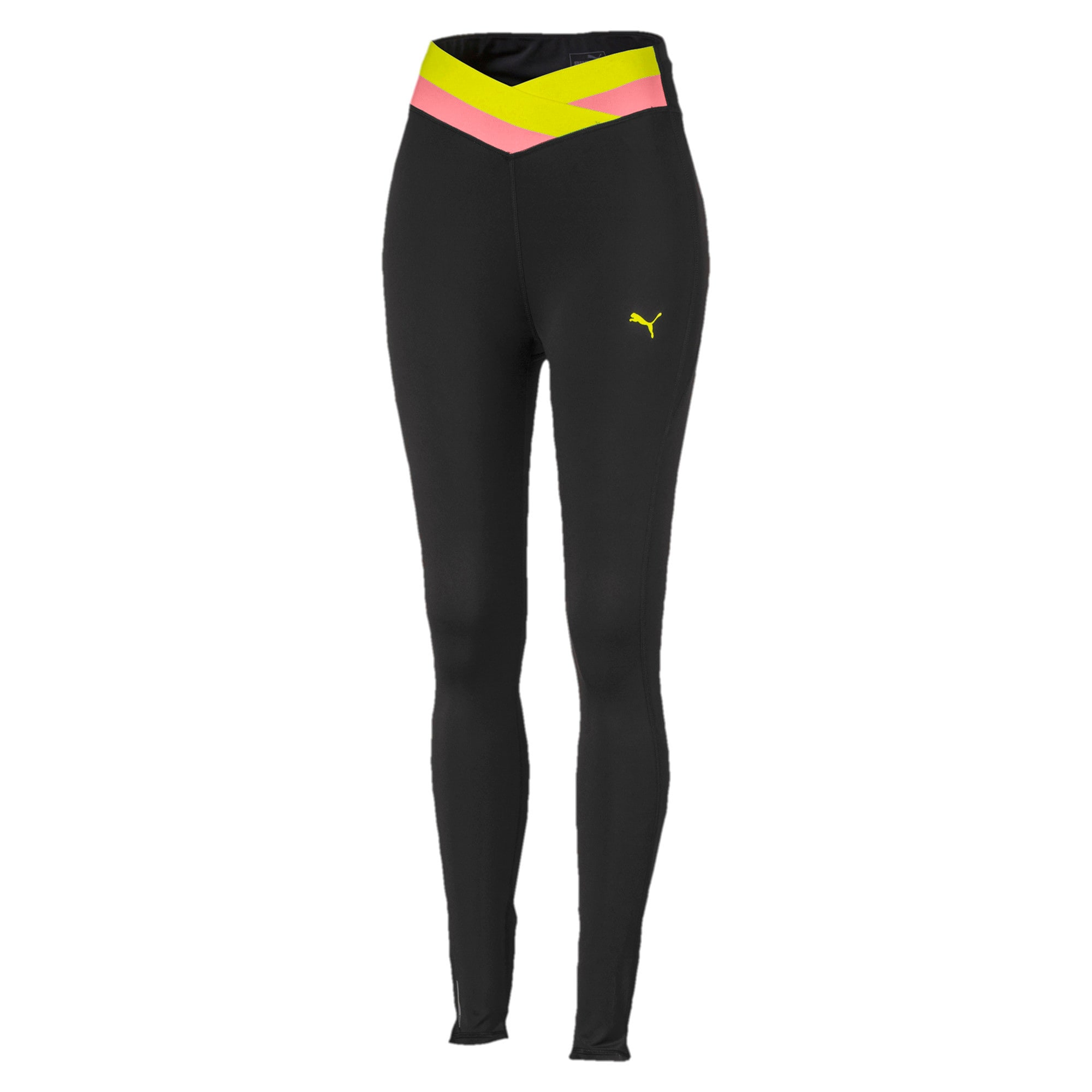 Thumbnail 4 of Feel It 7/8-trainingslegging voor dames, Black-BridalRose-YellowAlert, medium