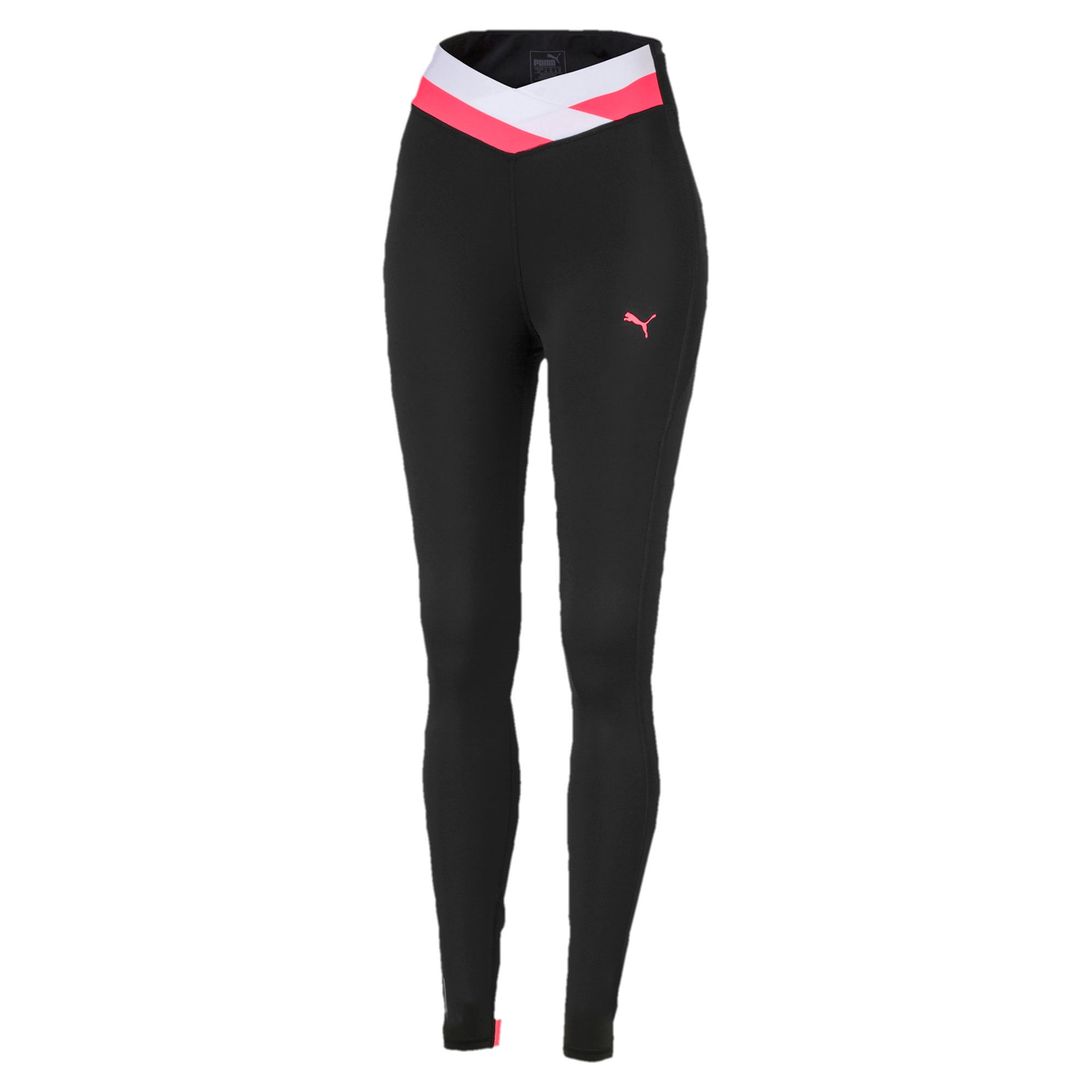 Thumbnail 4 of HIT Feel It 7/8 Women's Training Leggings, Puma Black-Pink Alert, medium