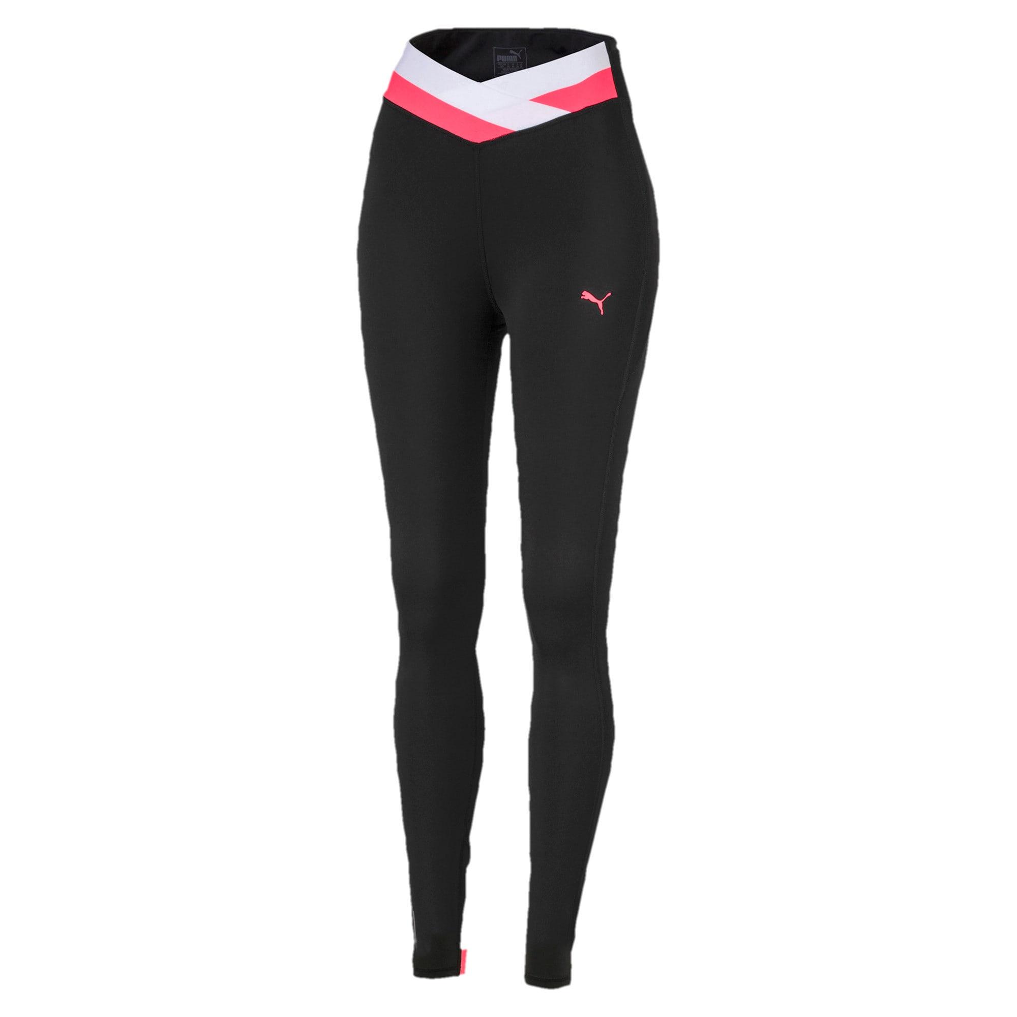 Thumbnail 4 of HIT Feel It 7/8 Women's Training Leggings, Puma Black-Pink Alert, medium-IND