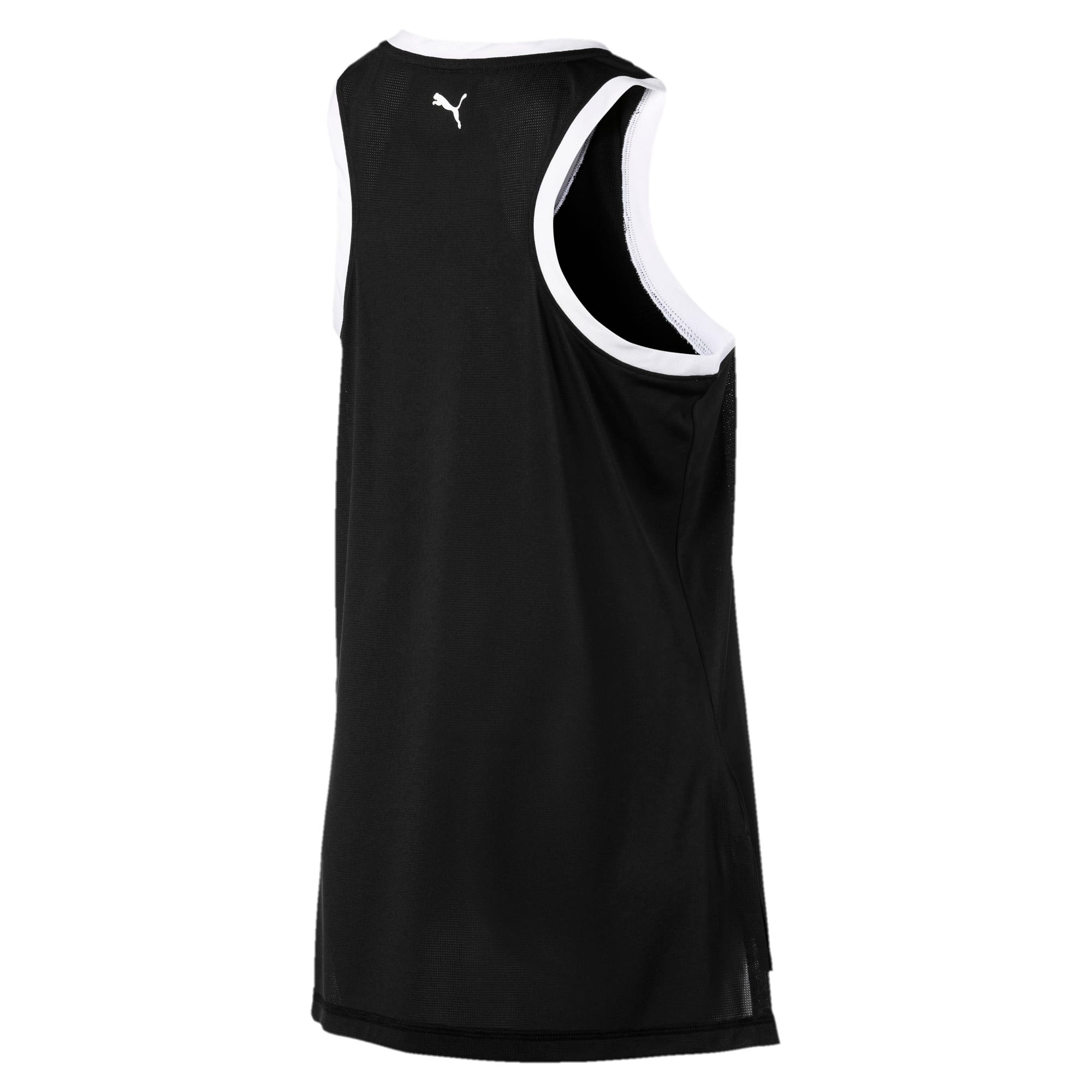 Thumbnail 5 of Logo Women's Training Tank Top, Puma Black-Puma White, medium