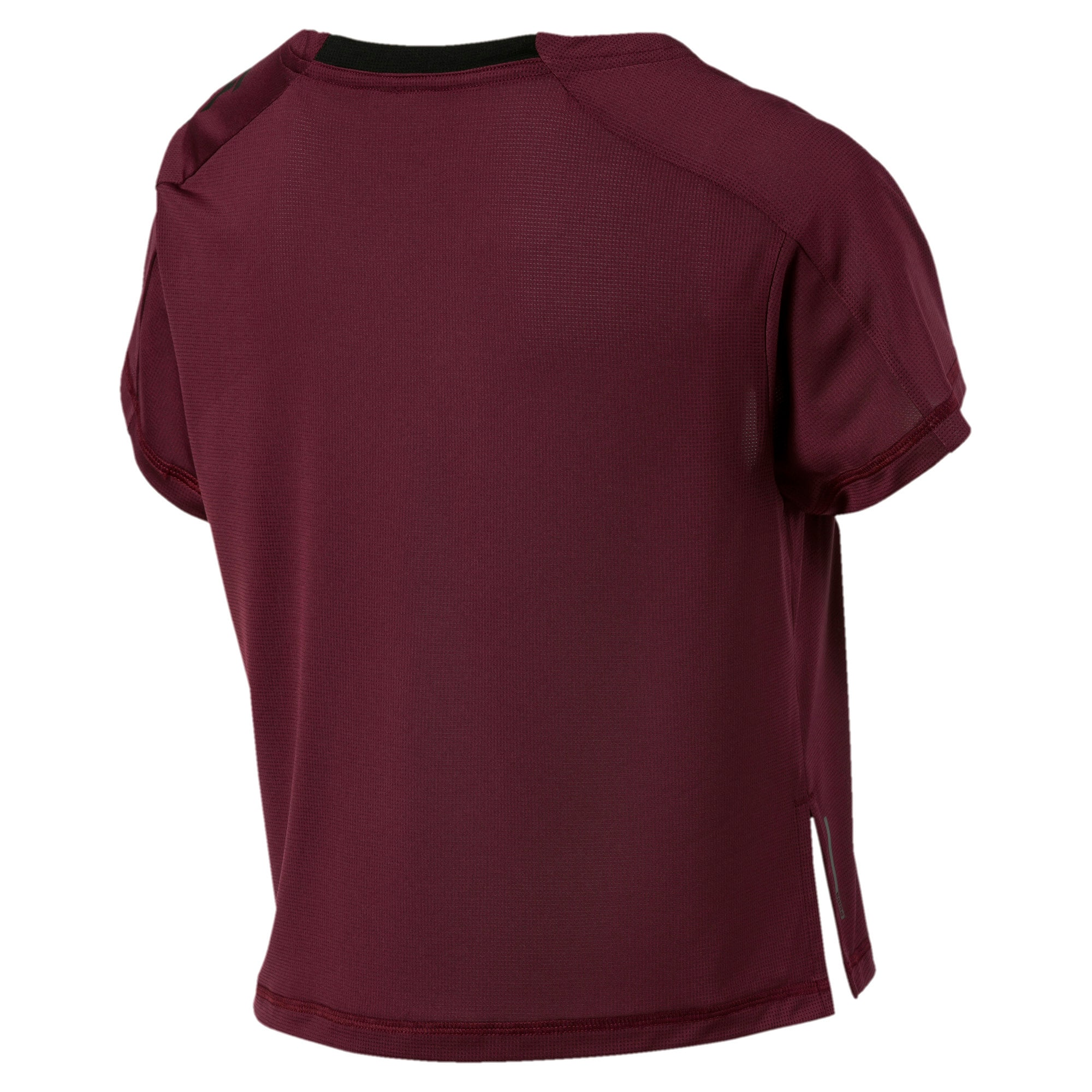 Thumbnail 5 of Cropped Short Sleeve Women's Training Tee, Vineyard Wine, medium