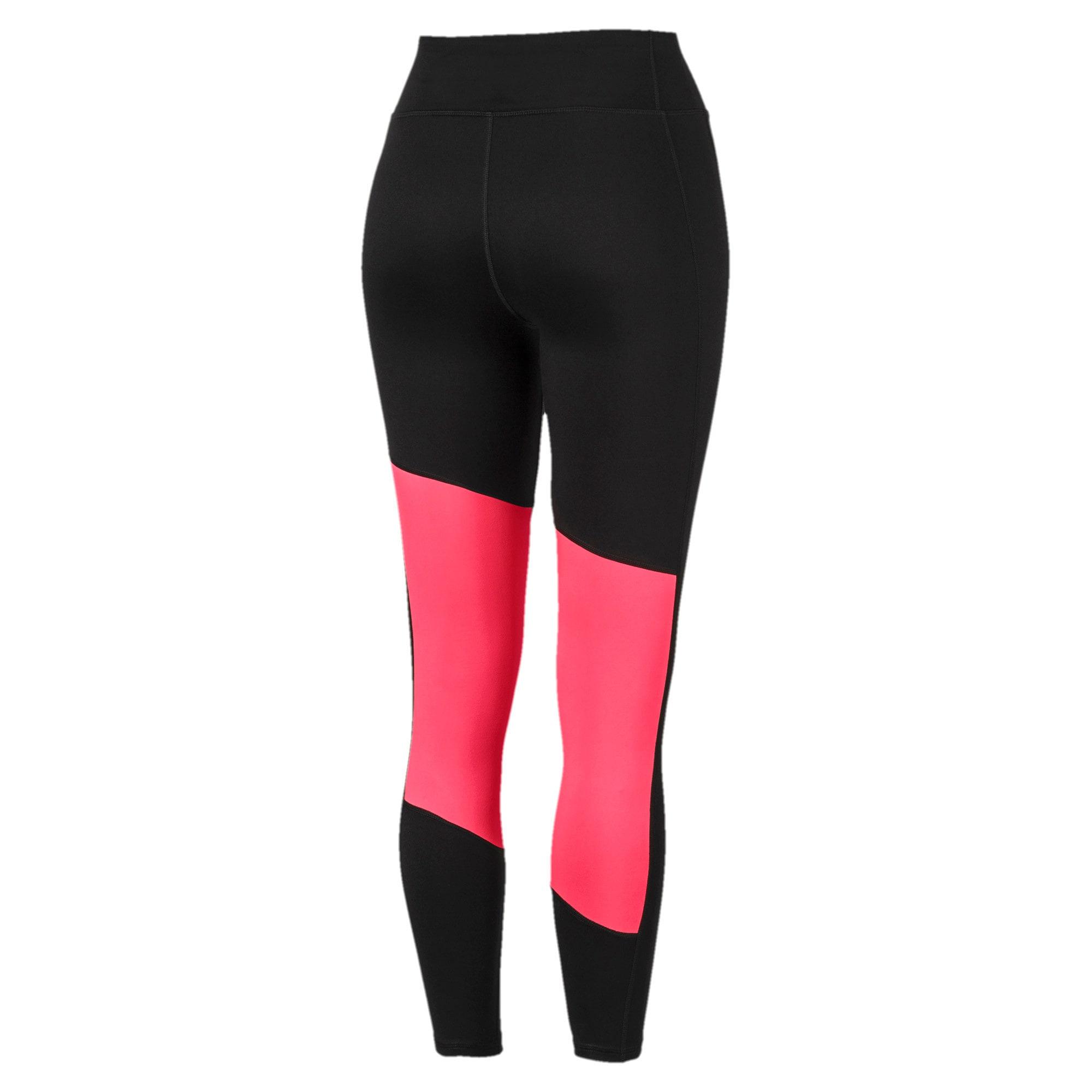 Thumbnail 5 of Logo 7/8 Graphic Women's Training Leggings, Puma Black-Pink Alert, medium-IND