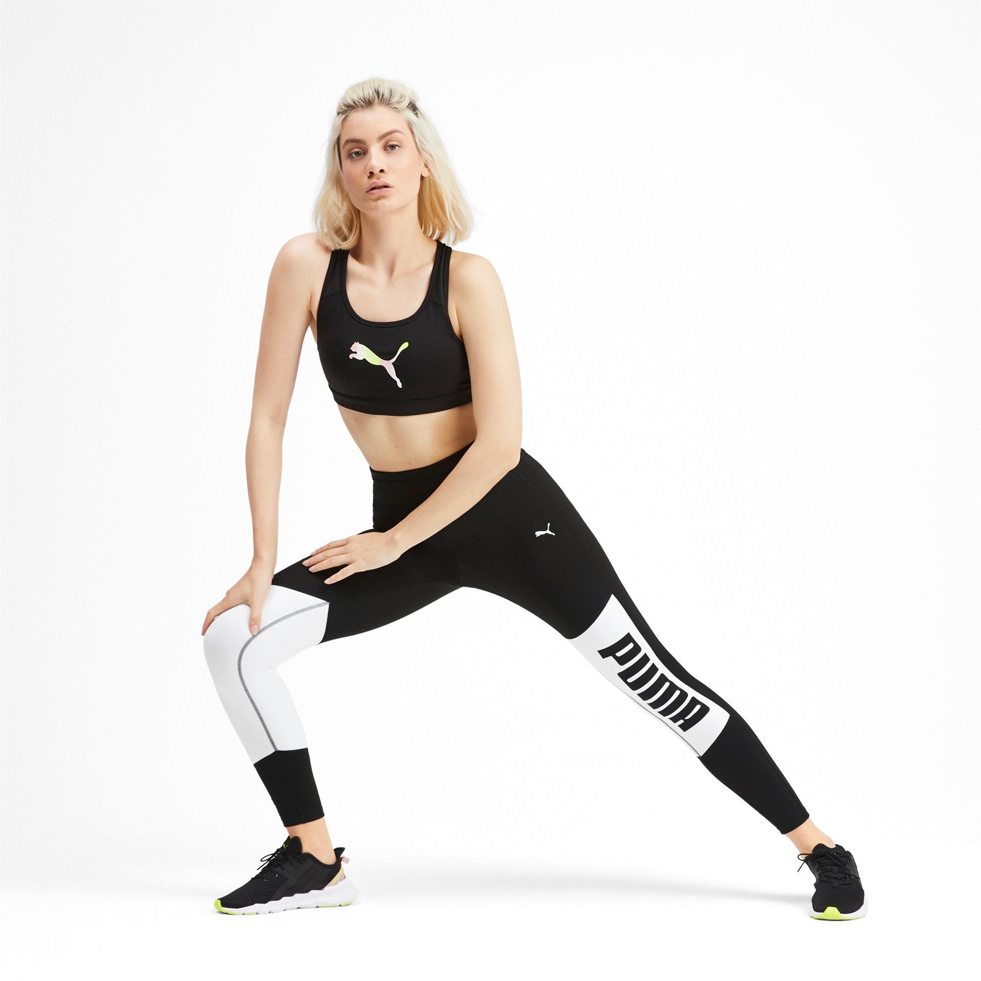 Thumbnail 3 of 7/8-trainingslegging met print en logo voor dames, Puma Black-Puma White, medium
