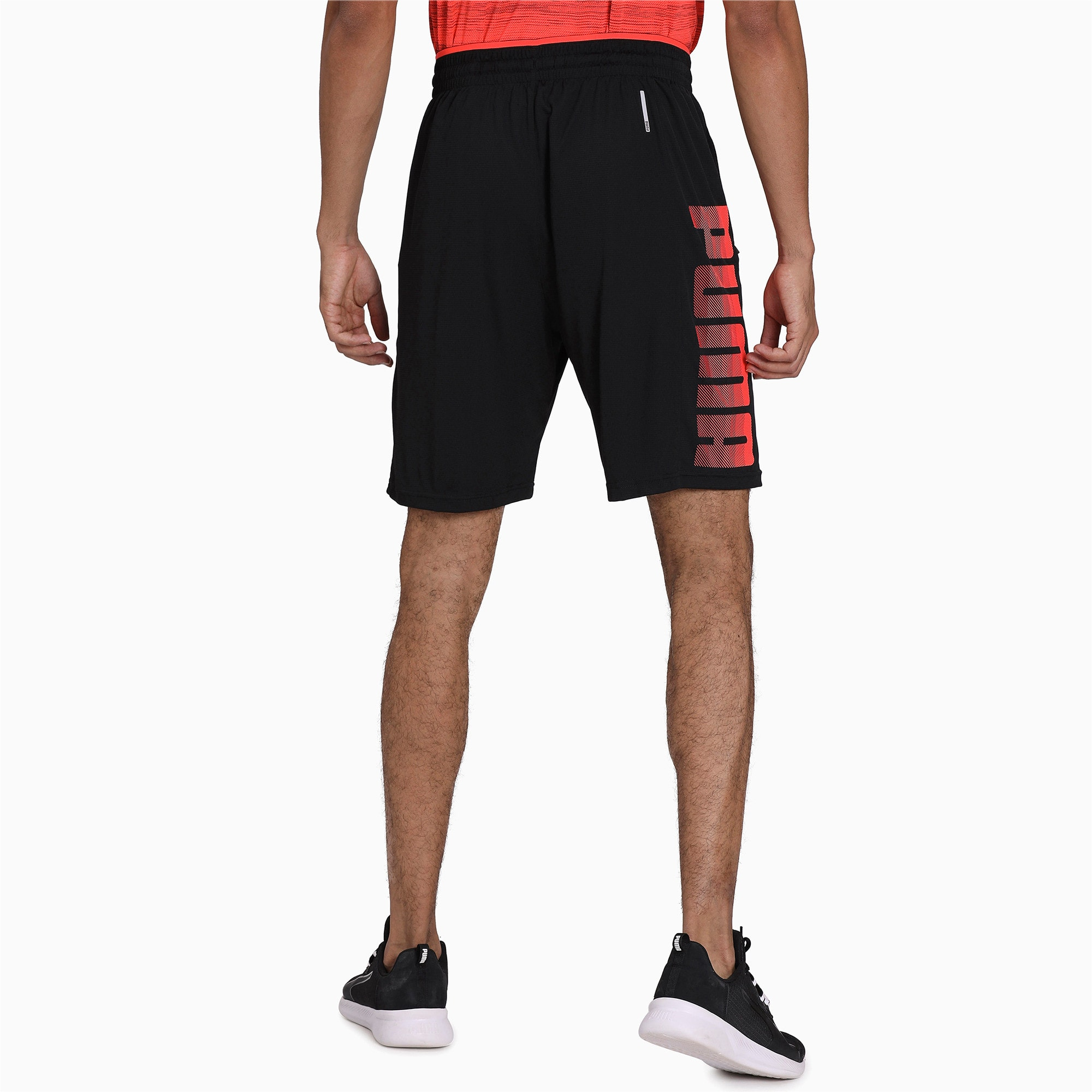 Thumbnail 2 of Collective Knitted Men's Training Shorts, Puma Black-Nrgy Red, medium-IND