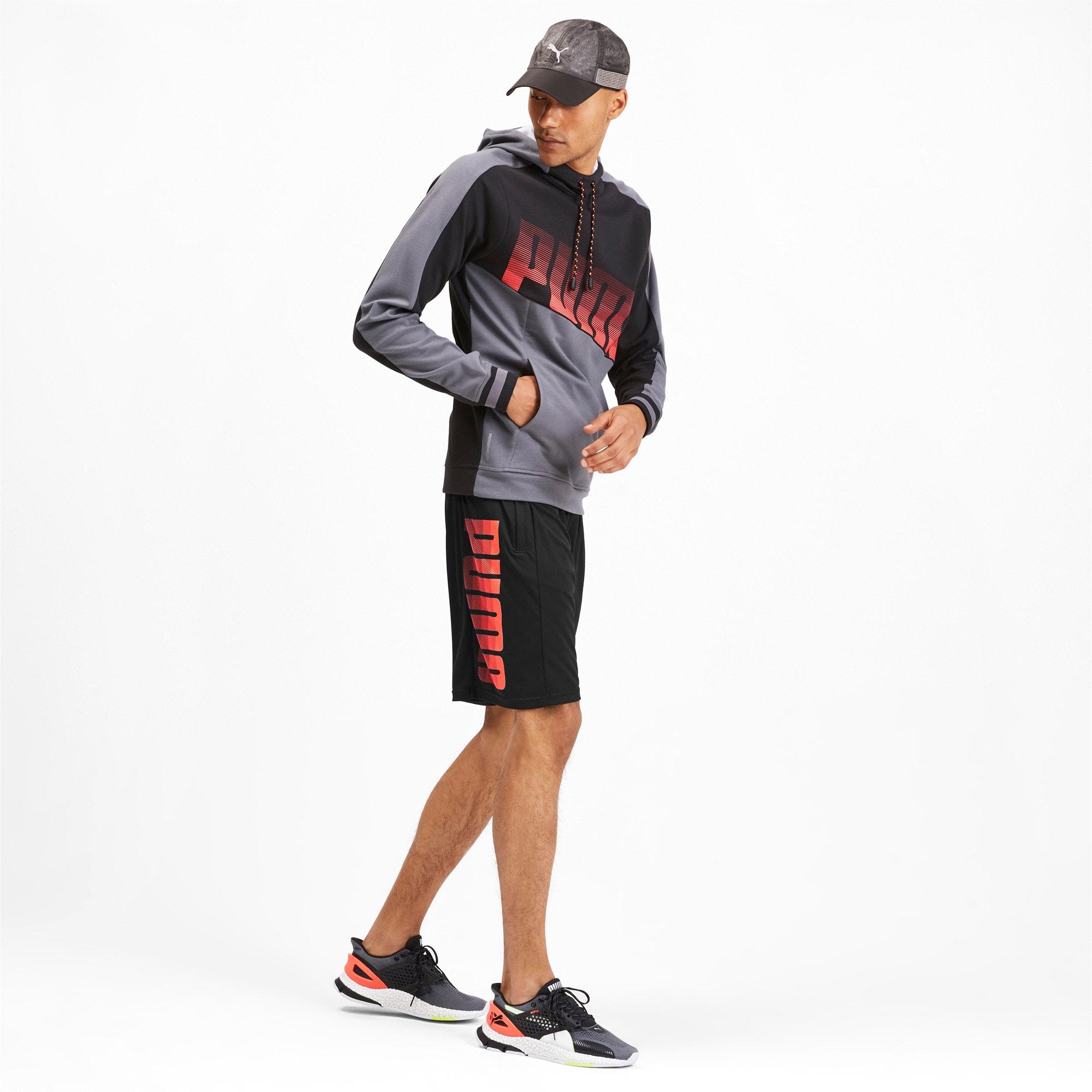 Miniaturka 3 Męskie dzianinowe szorty treningowe Collective, Kolor Puma Black-Nrgy Red, średnie