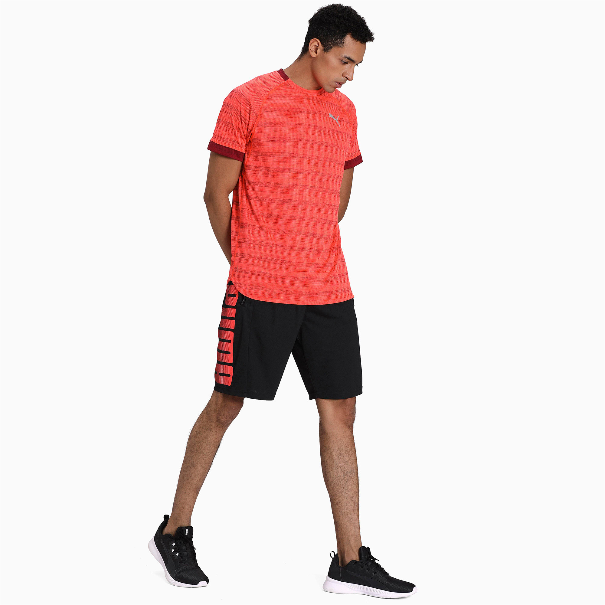 Thumbnail 3 of Collective Knitted Men's Training Shorts, Puma Black-Nrgy Red, medium-IND