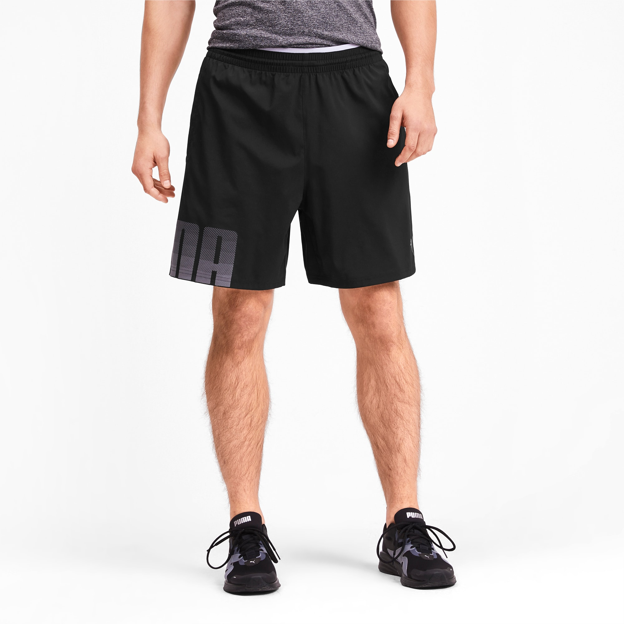 Size Small Puma Mens Black Woven Shorts NEW