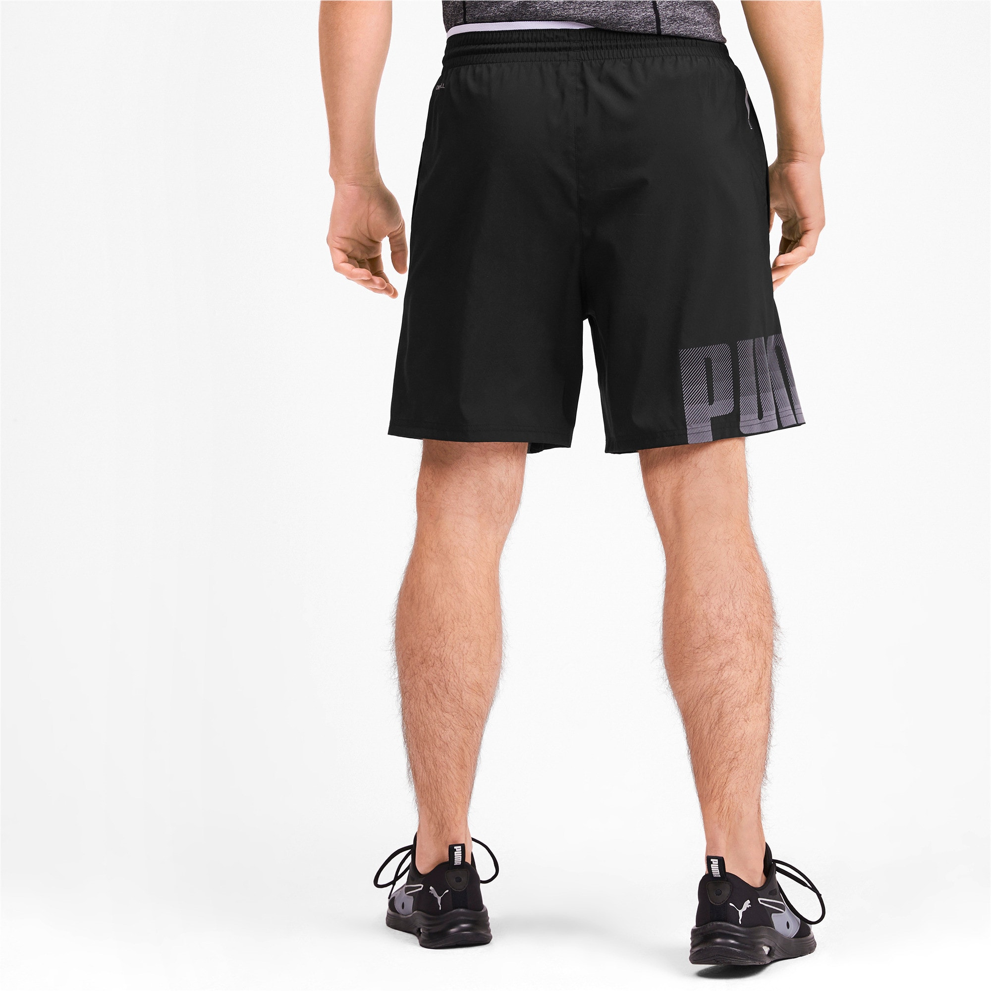 Thumbnail 2 of Collective Woven Men's Training Shorts, Puma Black, medium-IND