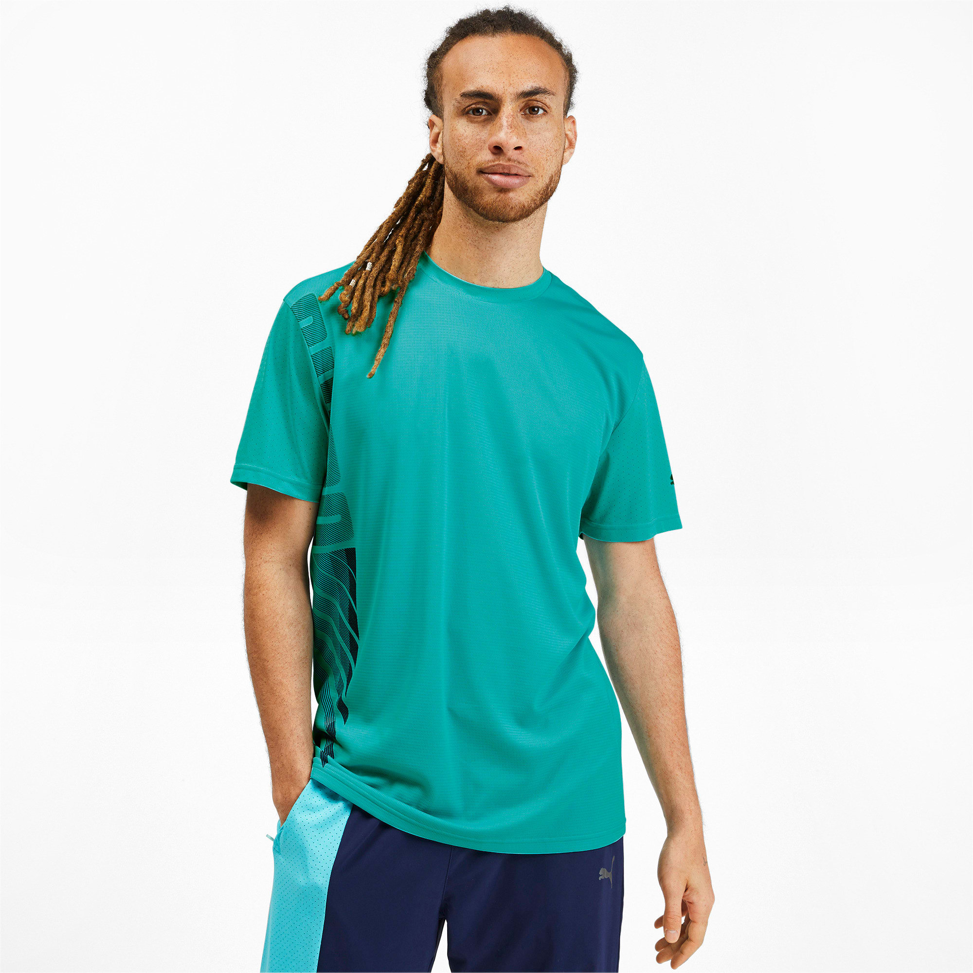 Thumbnail 1 of T-Shirt Collective pour homme, Blue Turquoise, medium