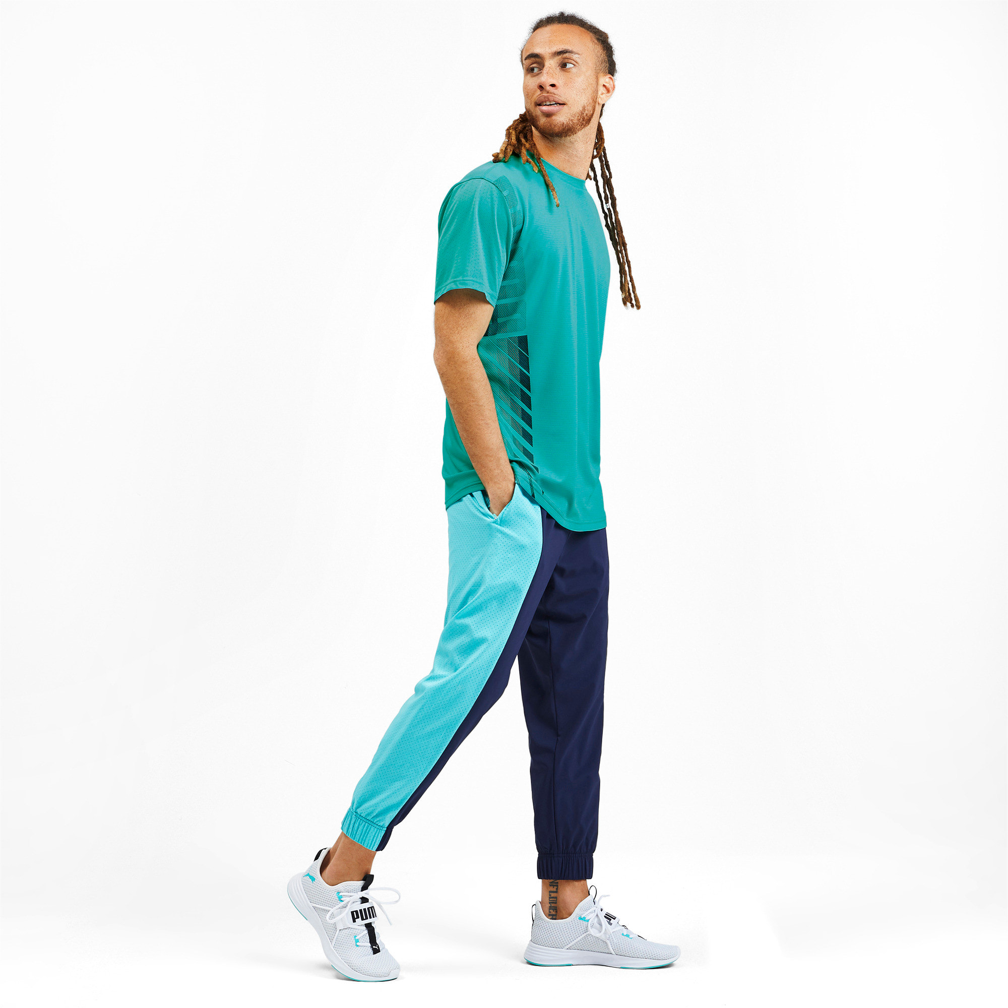Thumbnail 3 of T-Shirt Collective pour homme, Blue Turquoise, medium