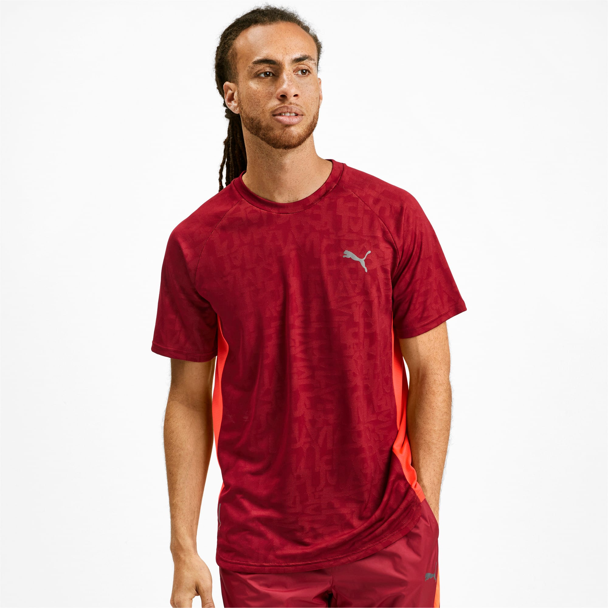 Miniatura 1 de Camiseta Power Vent para hombre, Rhubarb, mediano
