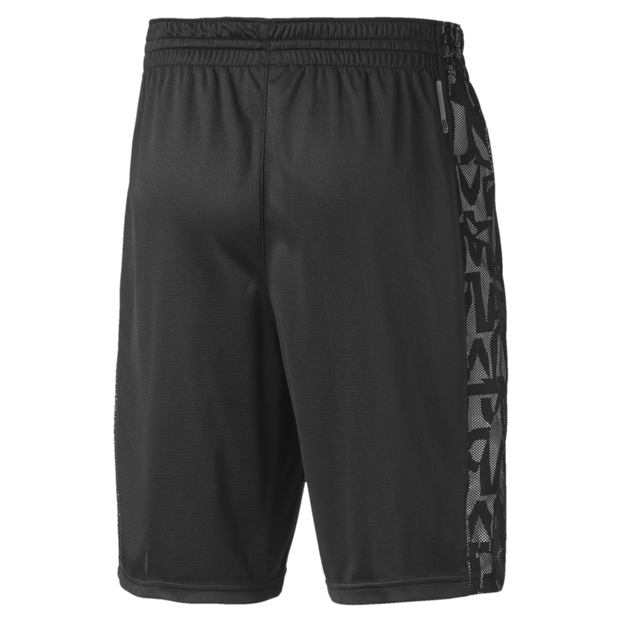 Thumbnail 5 of Power Vent Men's Training Shorts, Puma Black-Puma White, medium-IND