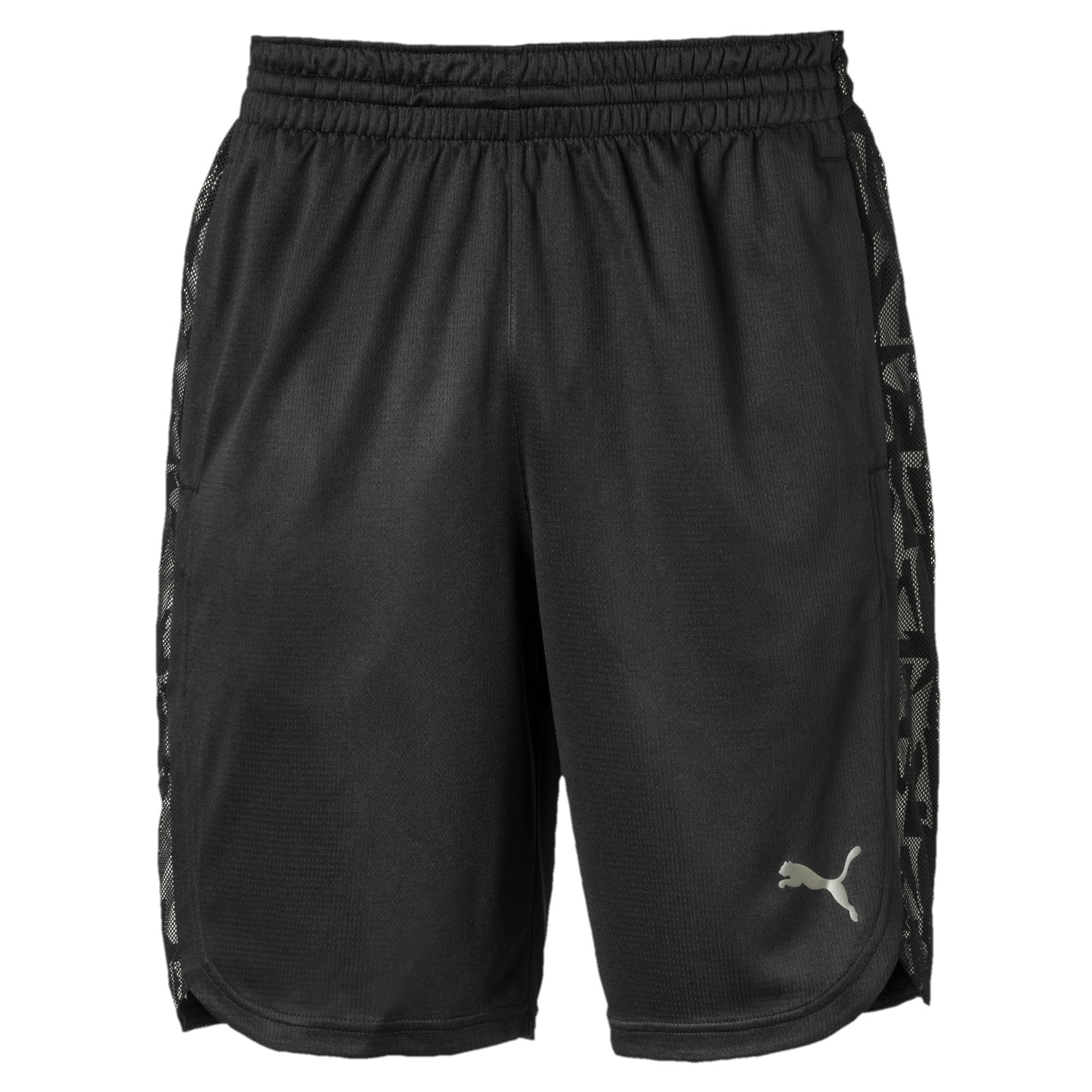Thumbnail 4 of Power Vent Men's Training Shorts, Puma Black-Puma White, medium-IND