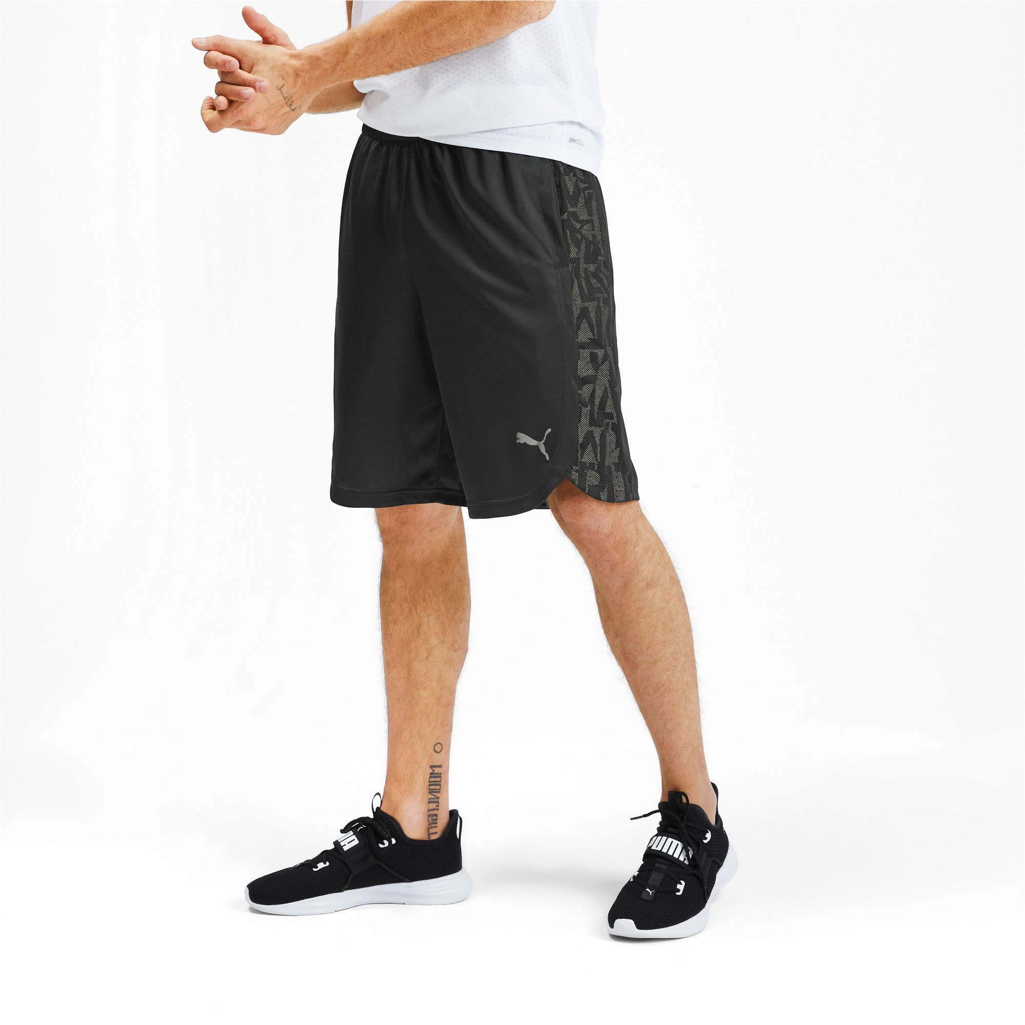 Thumbnail 1 of Power Vent Men's Training Shorts, Puma Black-Puma White, medium-IND