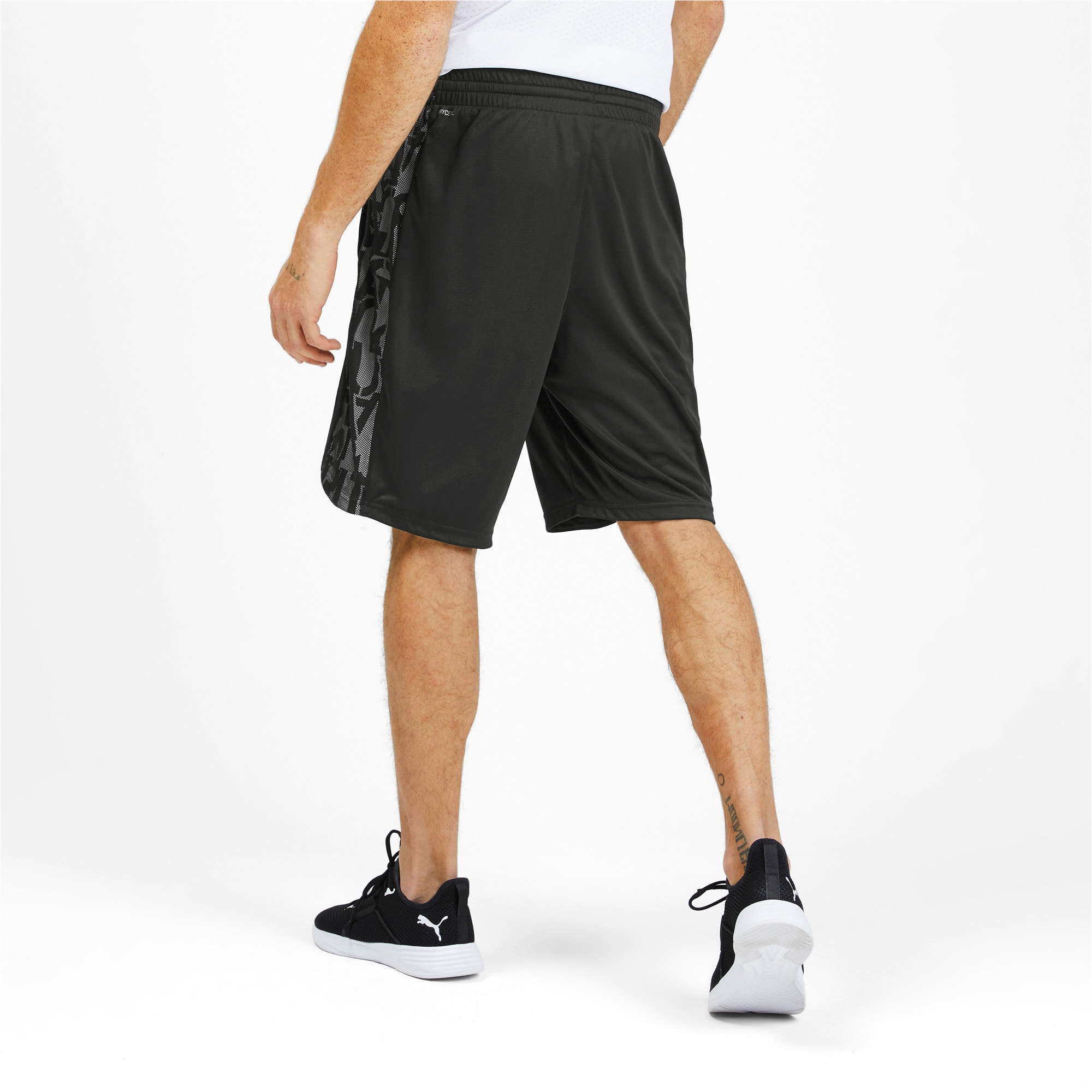 Thumbnail 2 of Power Vent Men's Training Shorts, Puma Black-Puma White, medium-IND