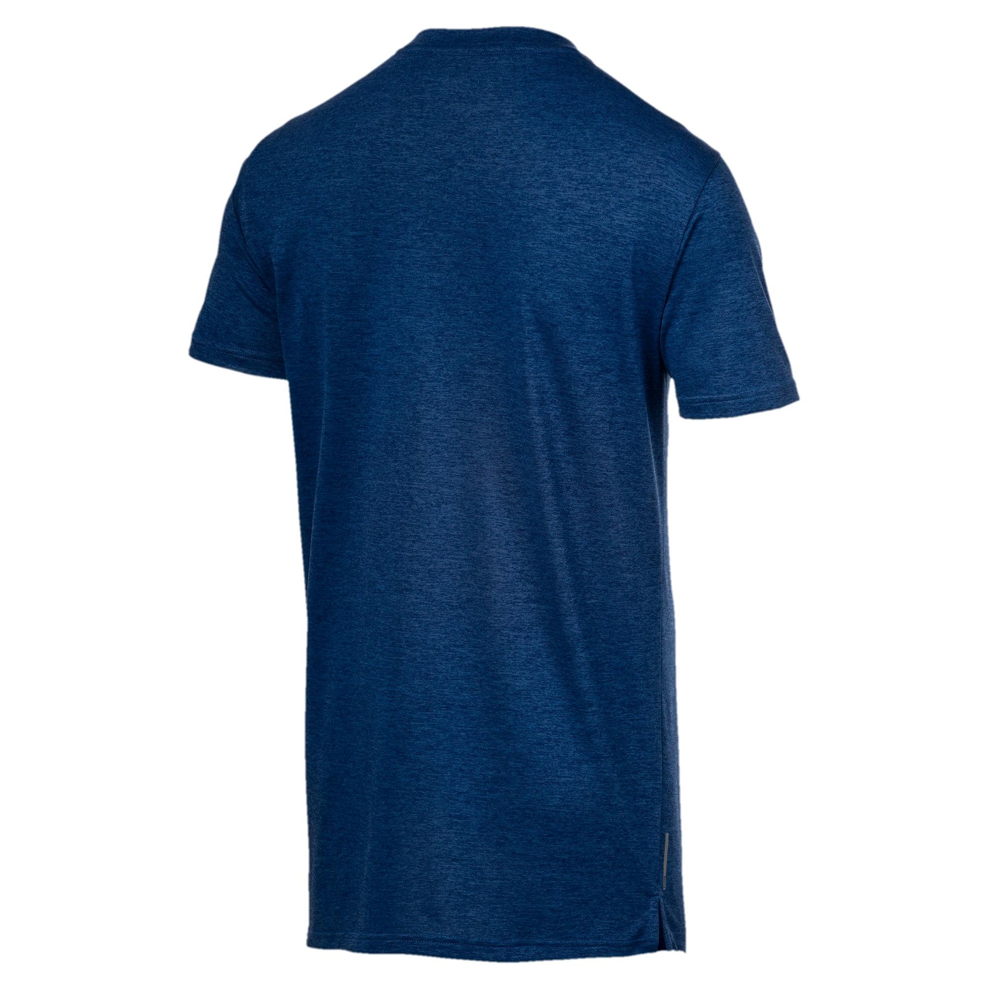 Thumbnail 5 of Heather Cat Herren Training T-Shirt, Galaxy Blue Heather, medium