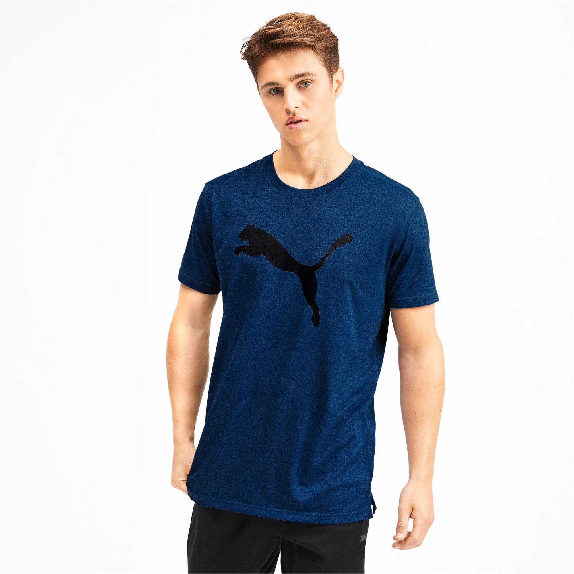 Thumbnail 1 of Heather Cat Herren Training T-Shirt, Galaxy Blue Heather, medium
