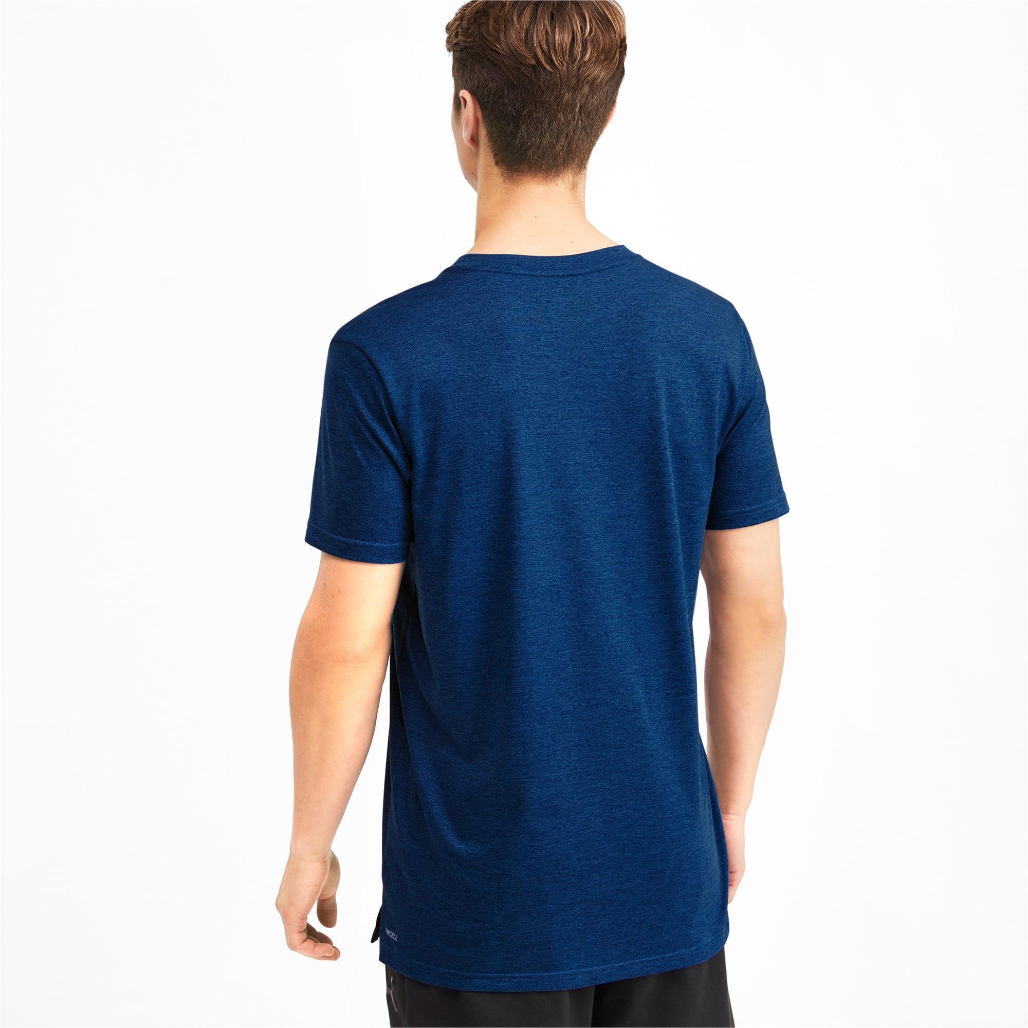 Thumbnail 2 of Heather Cat Herren Training T-Shirt, Galaxy Blue Heather, medium