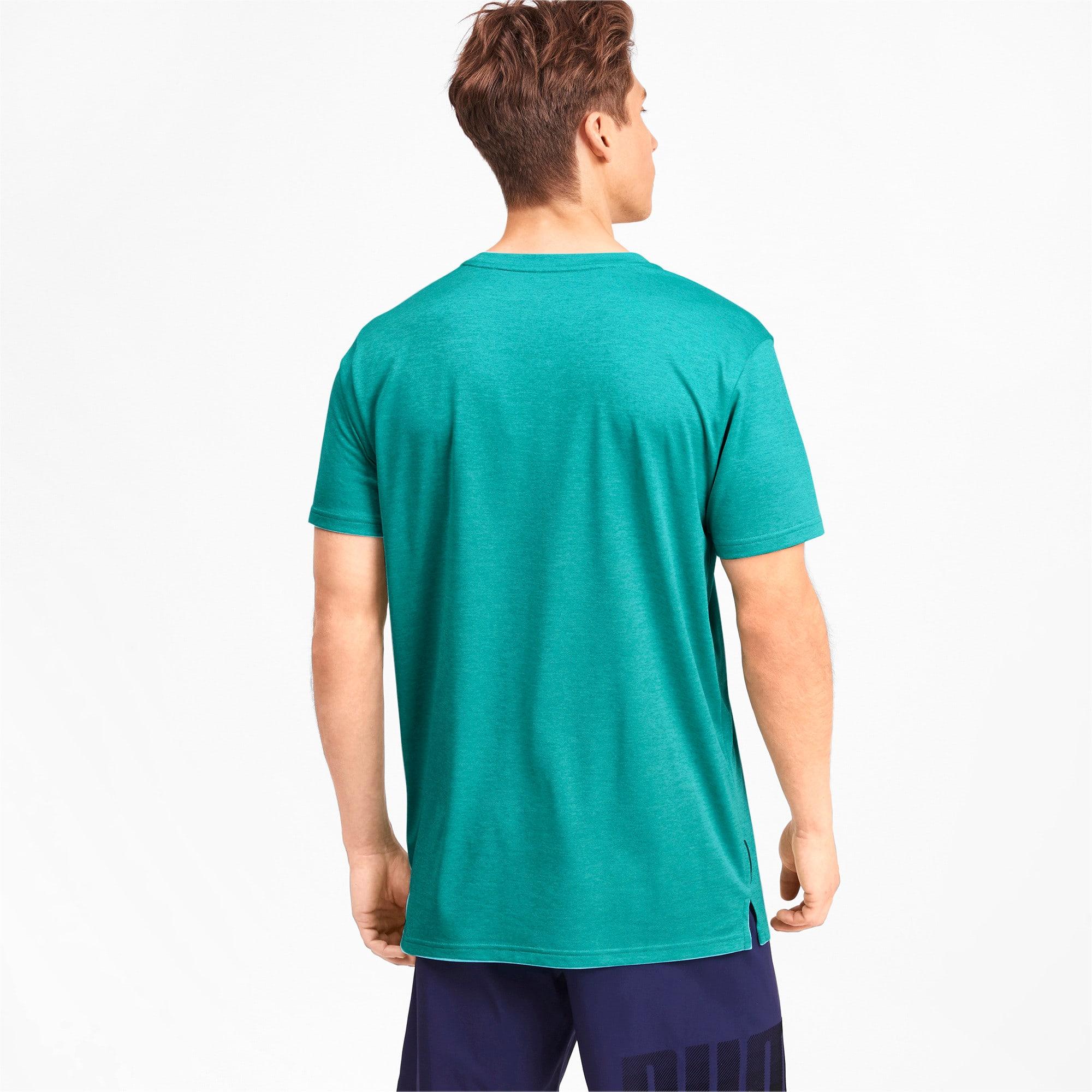 Thumbnail 2 of Heather Cat Herren Training T-Shirt, Blue Turquoise Heather, medium