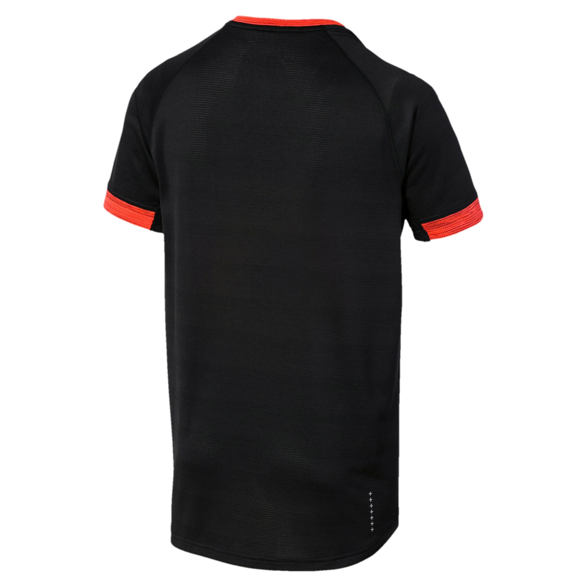 Thumbnail 5 of Get Fast THERMO R+ Men's Running Tee, Black Htr-Nrgy Red Htr, medium-IND