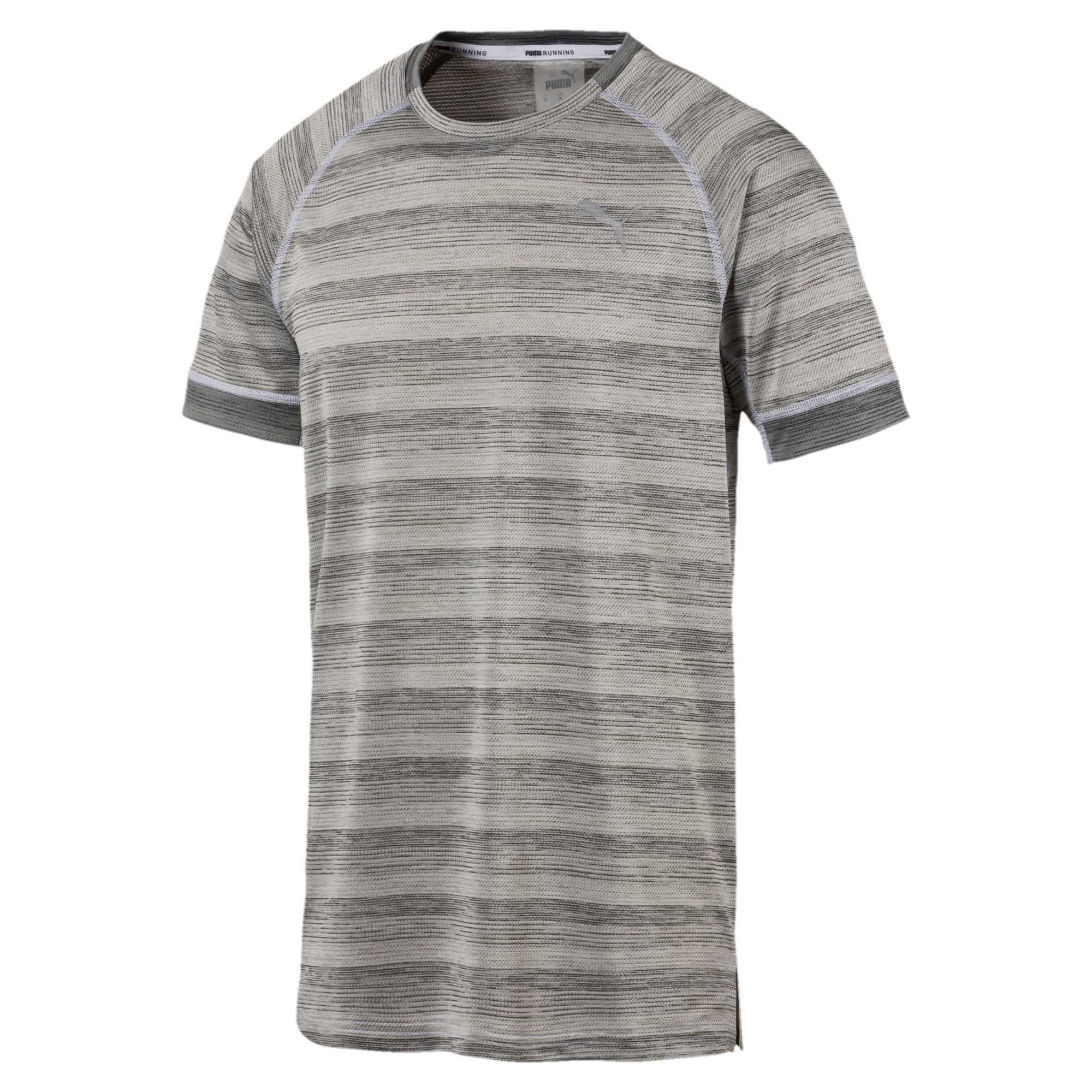 Thumbnail 4 of Get Fast THERMO R+ Men's Running Tee, White Heather-Med Gray Hthr, medium-IND