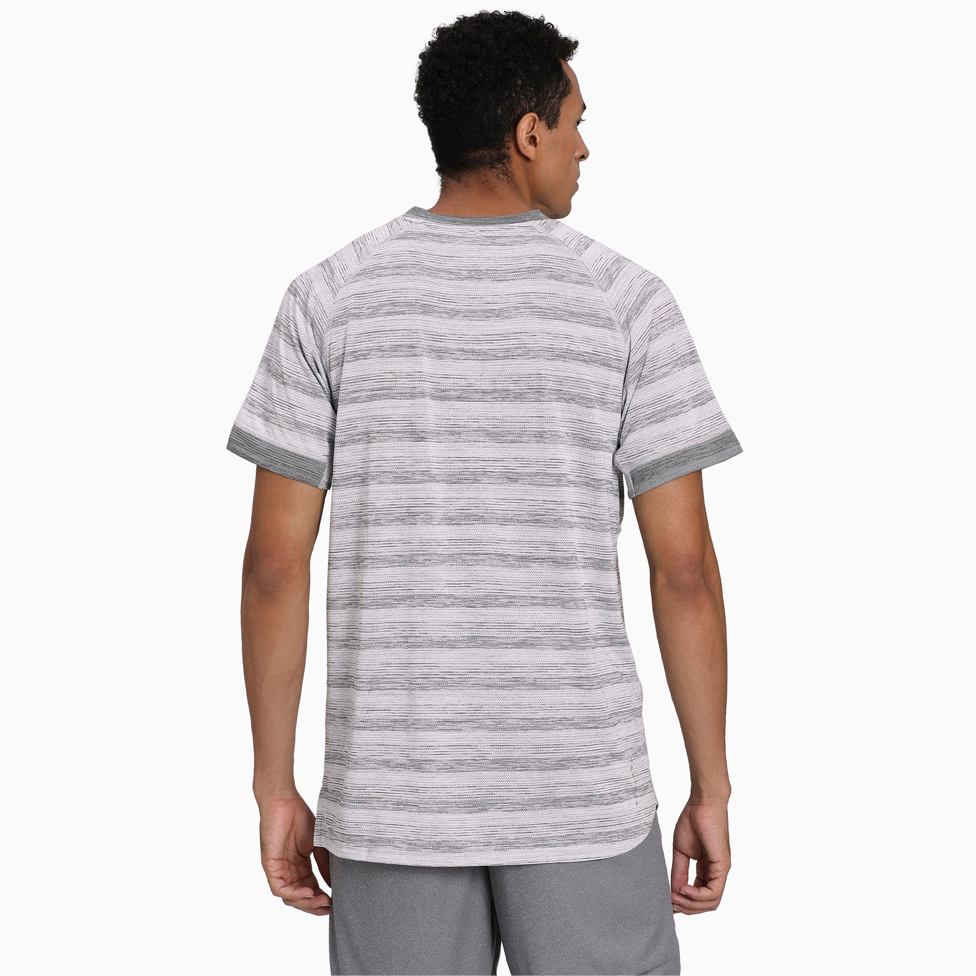 Thumbnail 2 of Get Fast THERMO R+ Men's Running Tee, White Heather-Med Gray Hthr, medium-IND