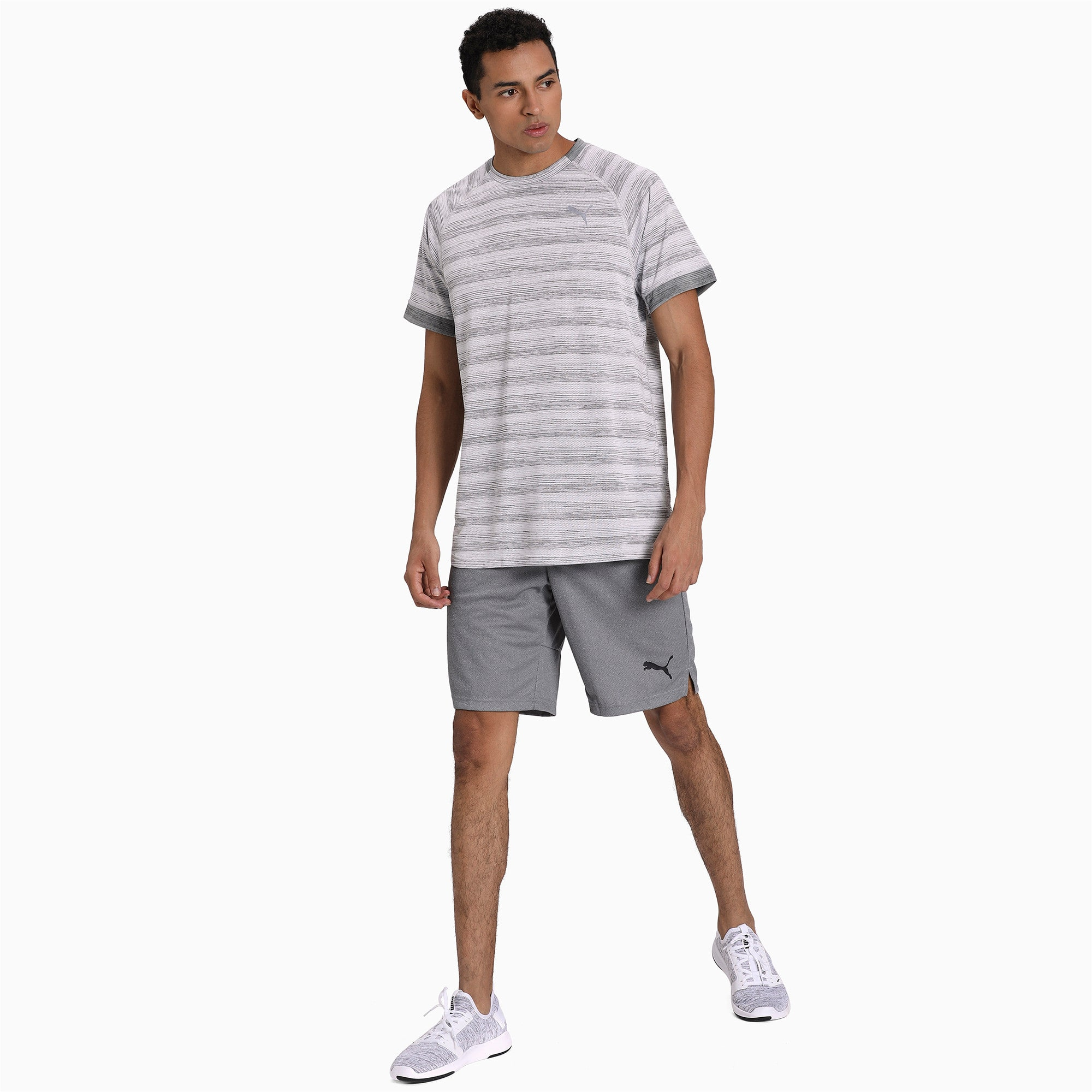 Thumbnail 3 of Get Fast THERMO R+ Men's Running Tee, White Heather-Med Gray Hthr, medium-IND