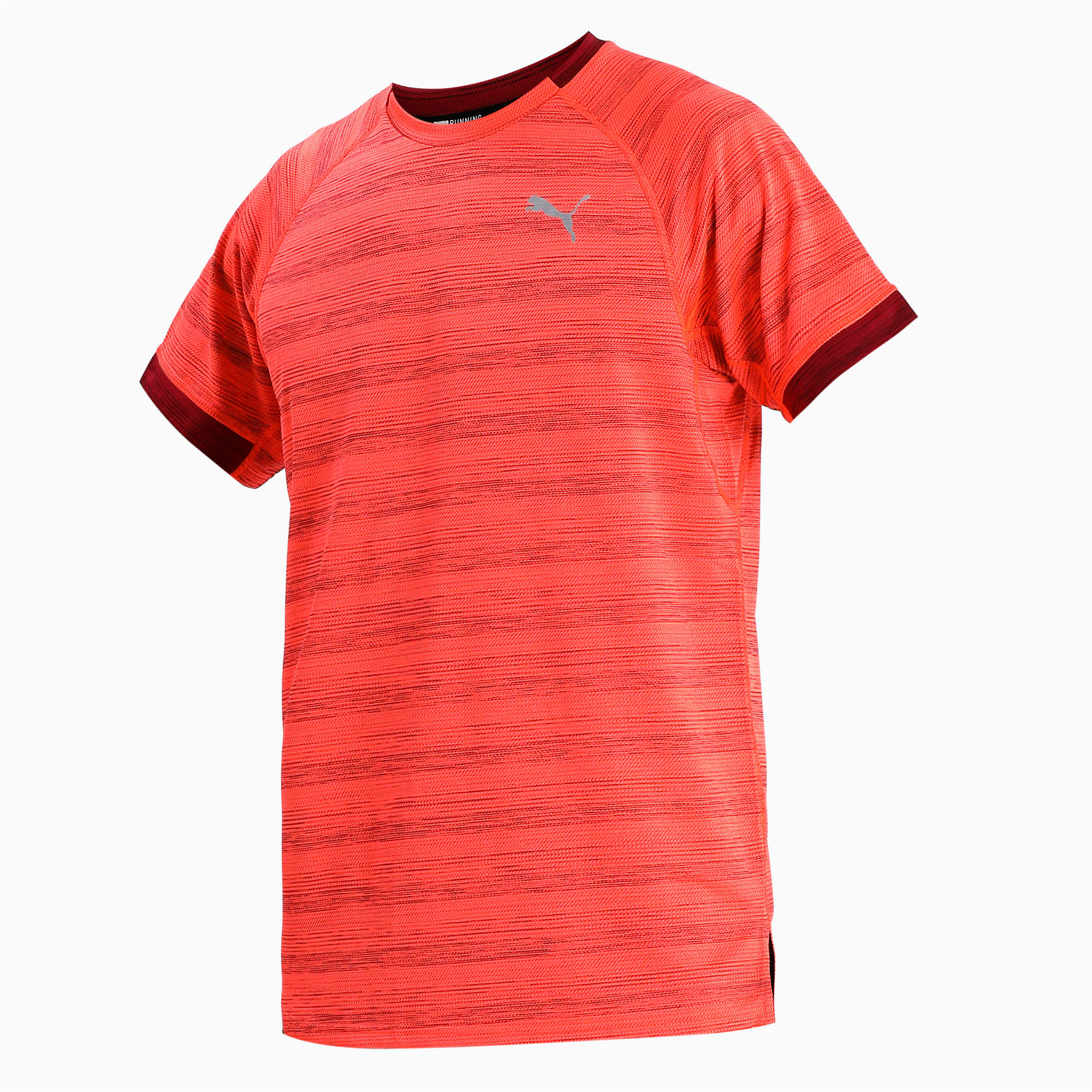 Thumbnail 4 of Get Fast THERMO R+ Men's Running Tee, Nrgy Red Htr-Rhubarb Htr, medium-IND