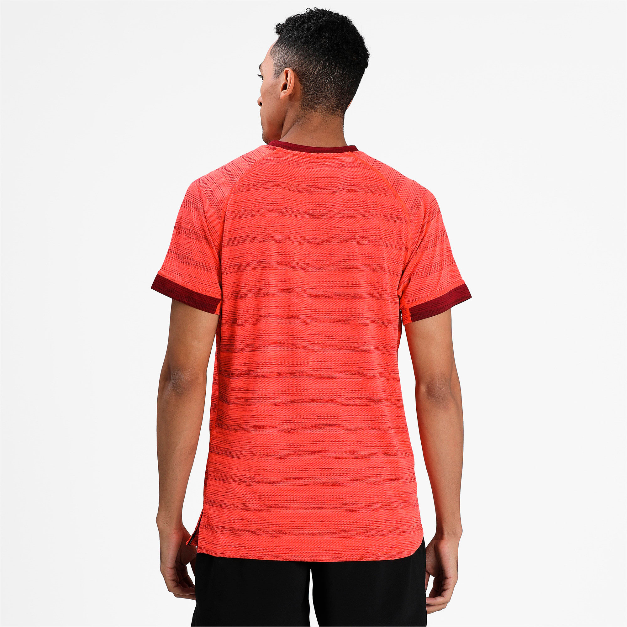 Thumbnail 2 of Get Fast THERMO R+ Men's Running Tee, Nrgy Red Htr-Rhubarb Htr, medium-IND
