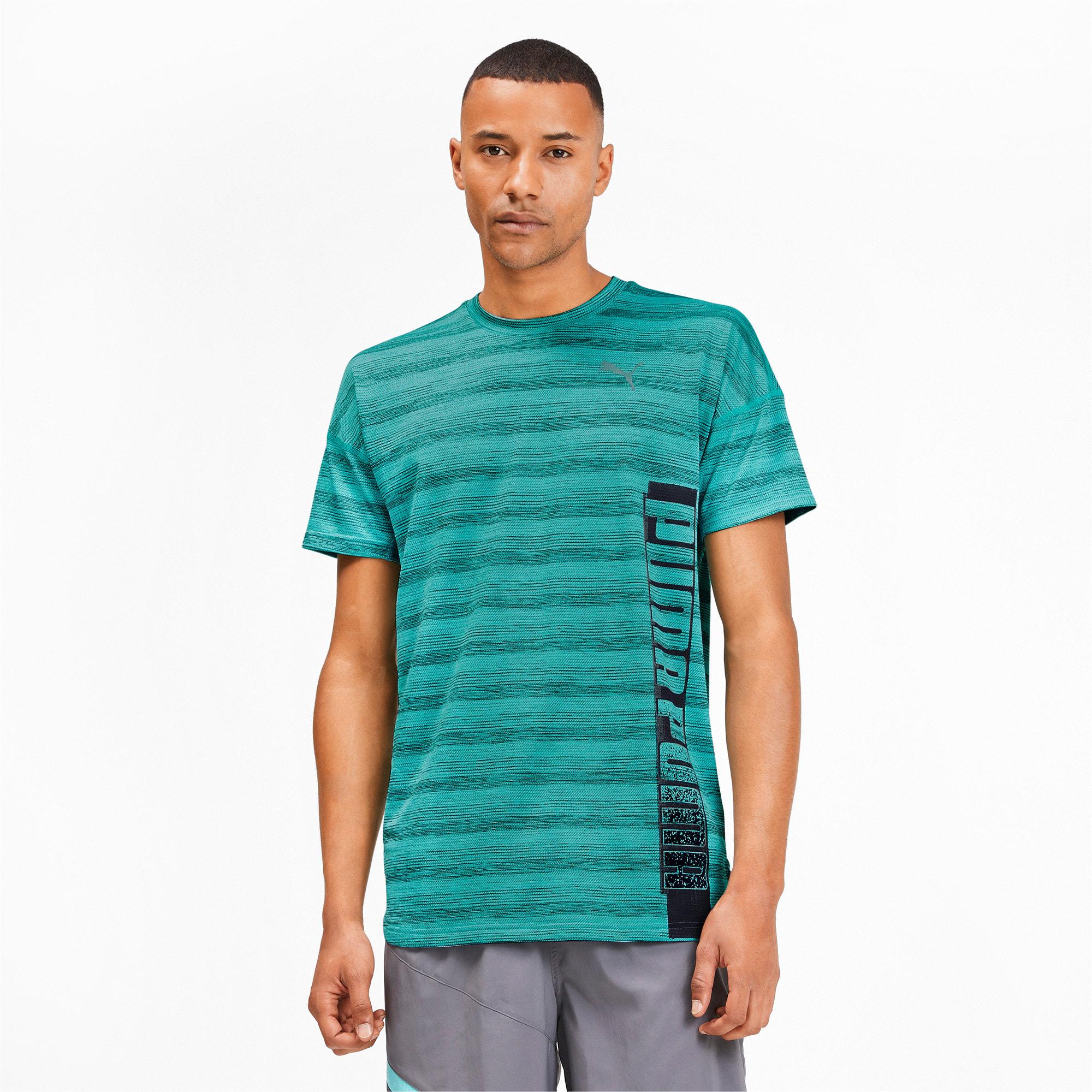 Thumbnail 1 van Gemêleerd LastLap T-shirt voor mannen, Gemêleerd blauwturquoise, medium