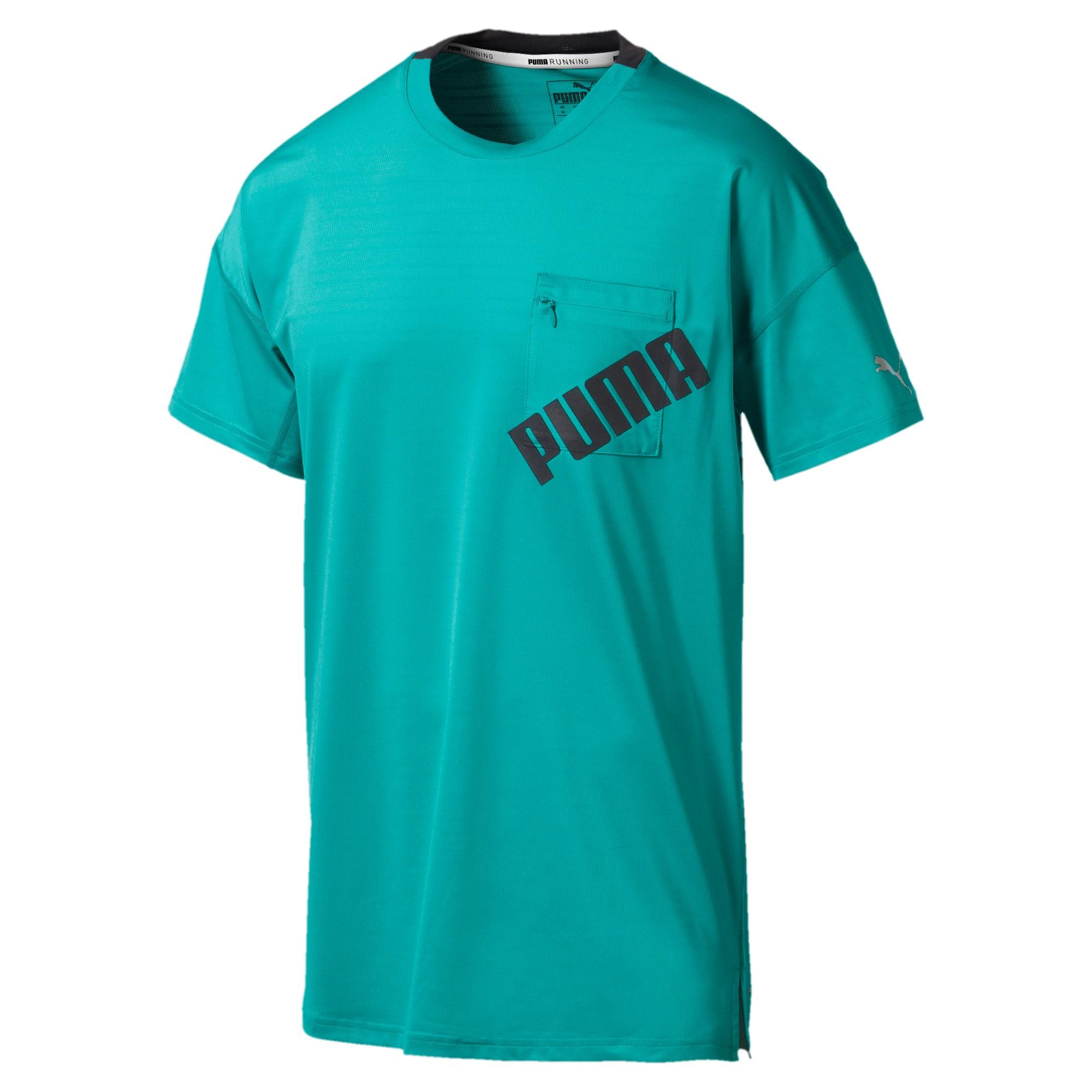Thumbnail 4 of Get Fast Excite hardloopshirt voor heren, Blue Turquoise-Puma Black, medium